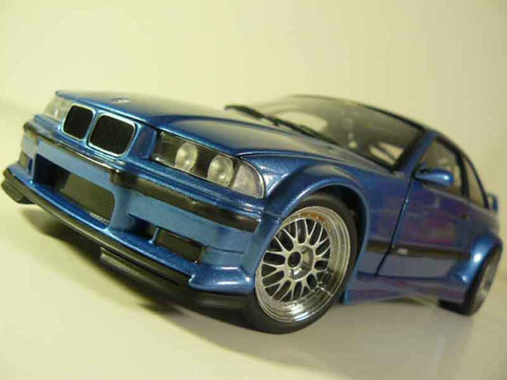 bmw m3 e36 gtr bleu estoril ut models modellauto 1 18. Black Bedroom Furniture Sets. Home Design Ideas
