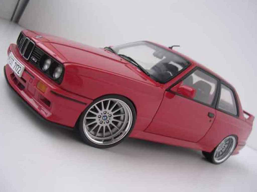 Bmw M3 E30 1/18 Autoart Alpina jantes chromees tuning diecast model cars
