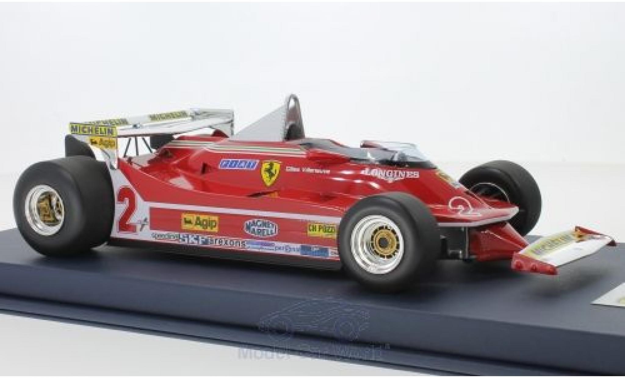 Ferrari 312 P 1/18 Look Smart T5 No.2 Formel 1 GP Monaco 1980 G.Villeneuve