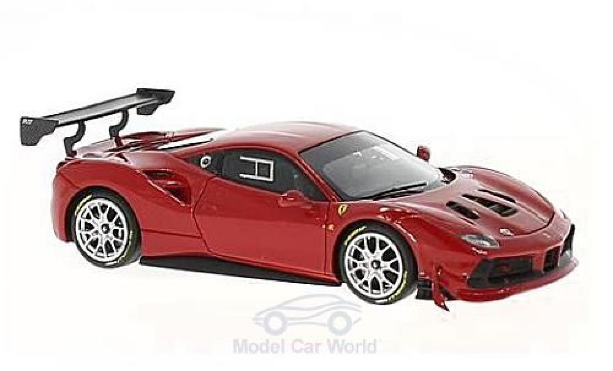 Ferrari 488 1/43 Look Smart Challenge rouge