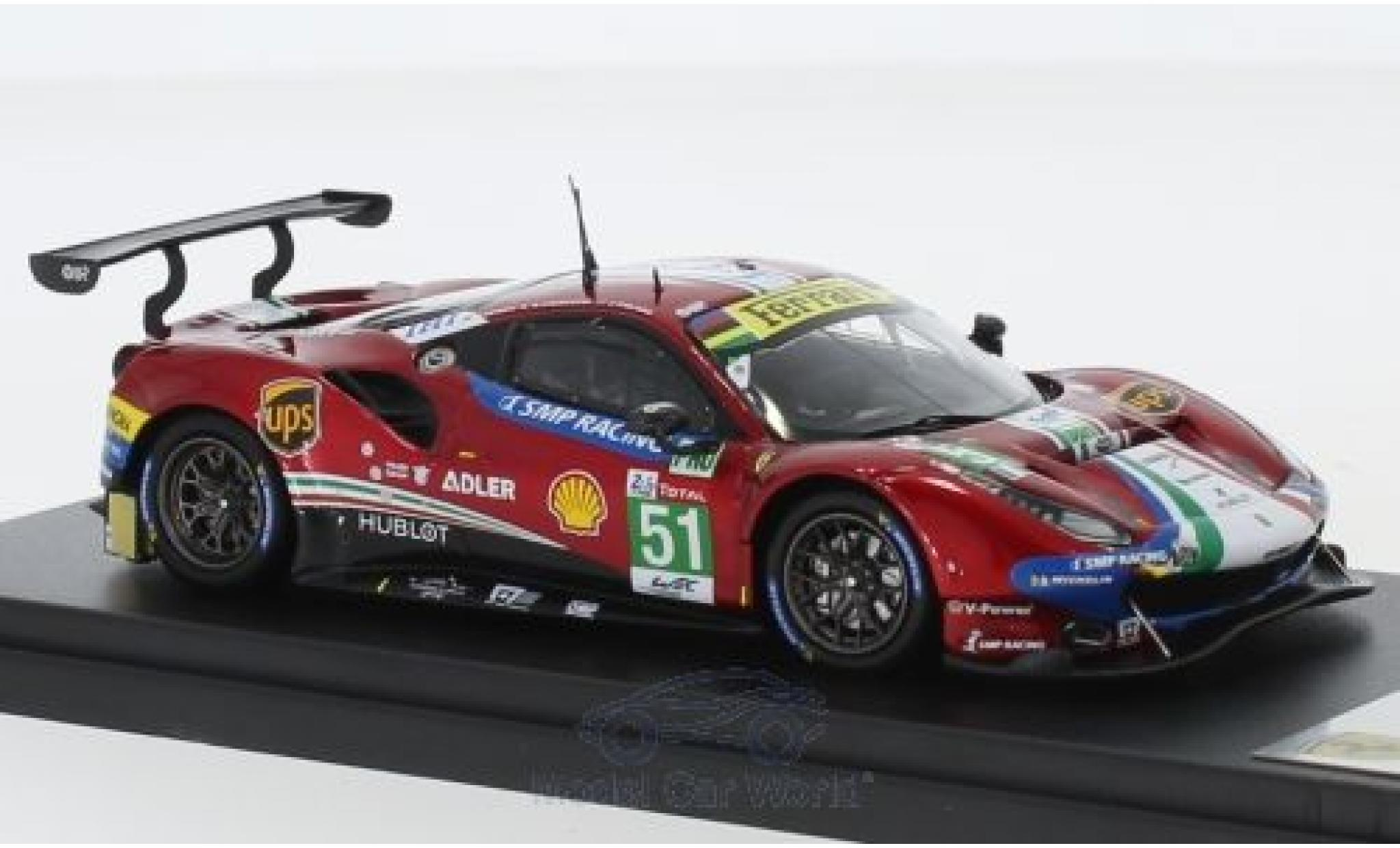 Ferrari 488 1/43 Look Smart GTE Evo No.51 AF Corse 24h Le Mans 2018 A.Pier Guidi/J.Calado/D.Serra