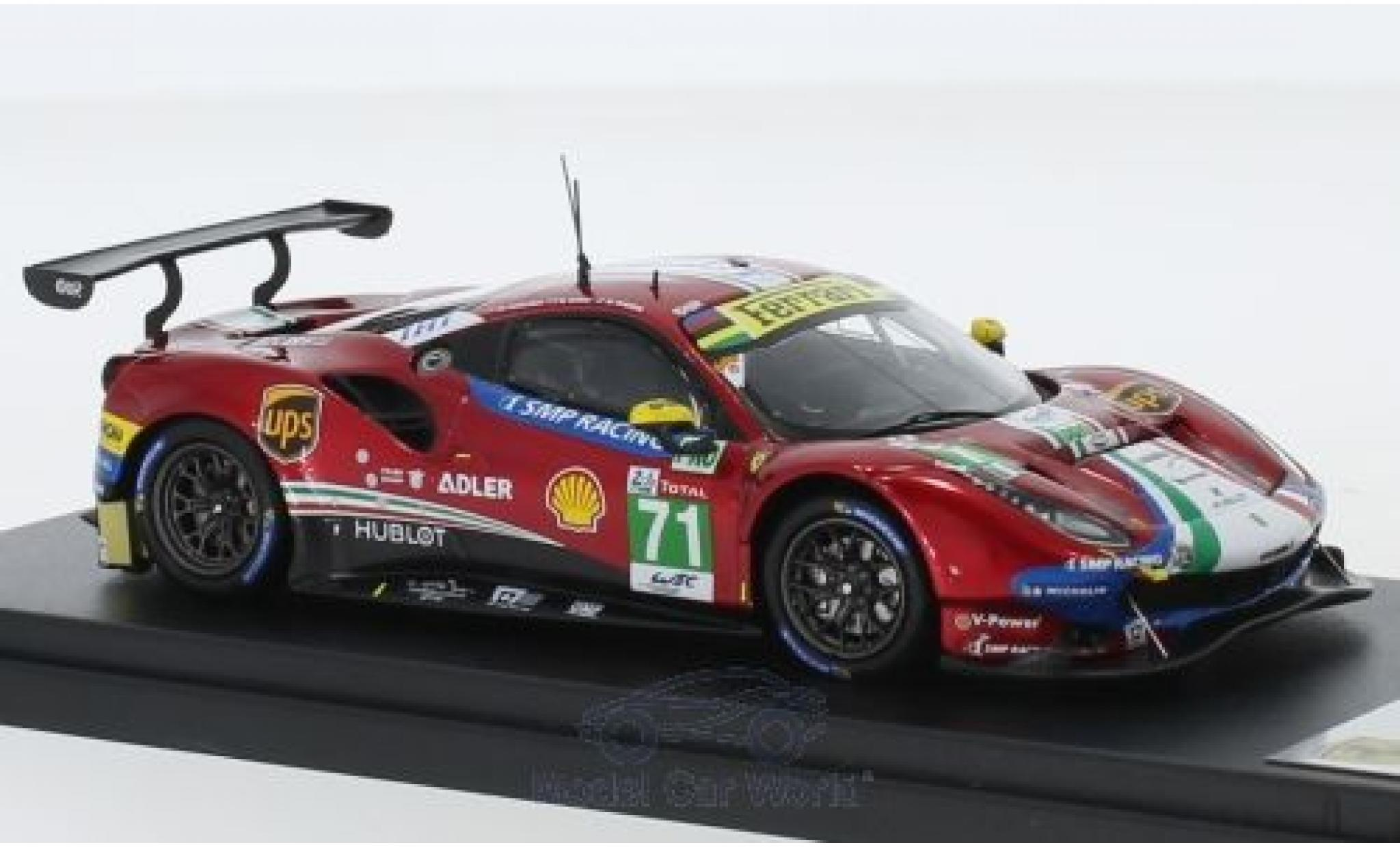 Ferrari 488 1/43 Look Smart GTE Evo No.71 AF Corse 24h Le Mans 2018 D.Rigon/S.Bird/M.Molina