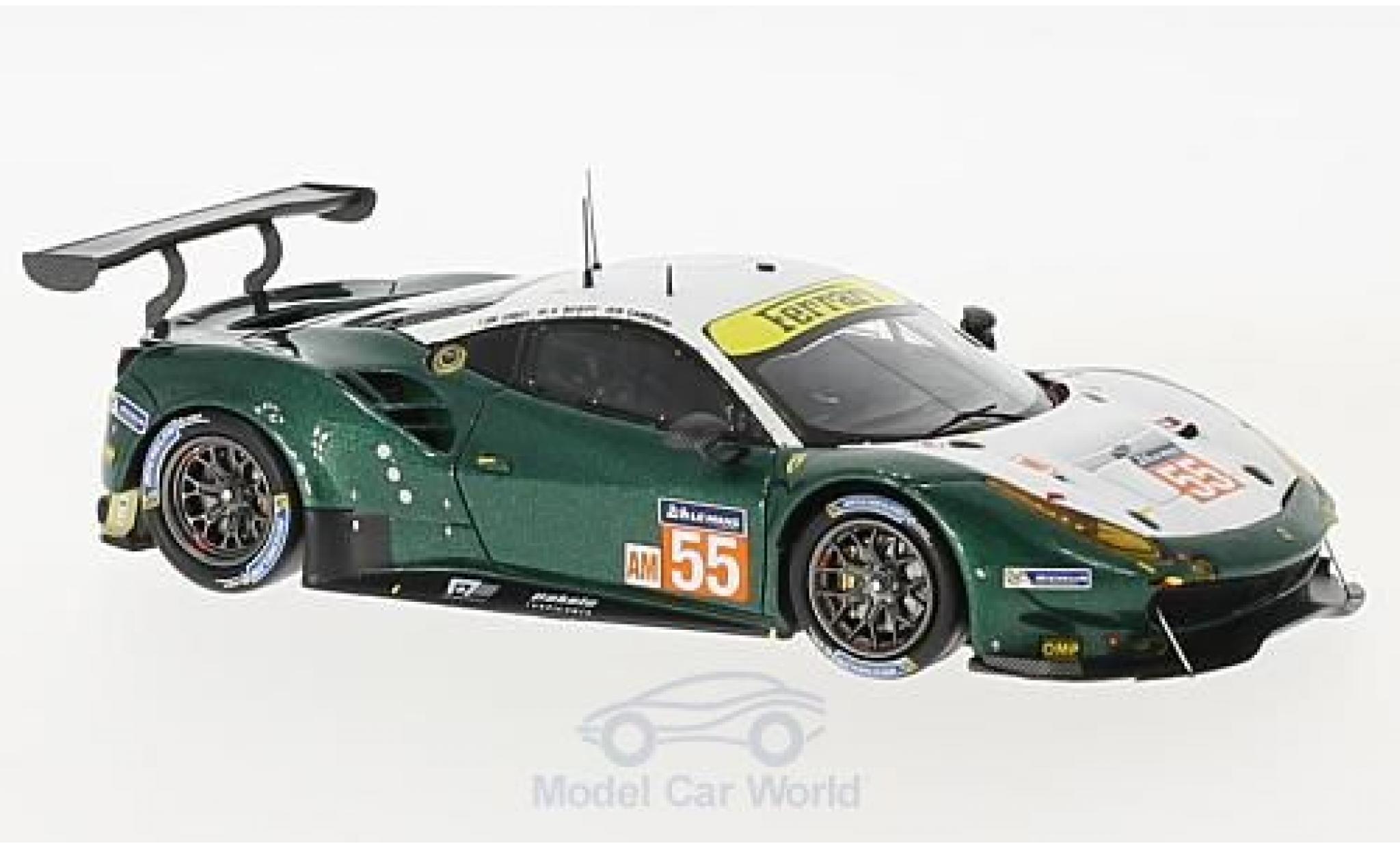 Ferrari 488 1/43 Look Smart GTE No.55 Spirit of Race 24h Le Mans 2017 D.Cameron/A.Scott/M.Cioci
