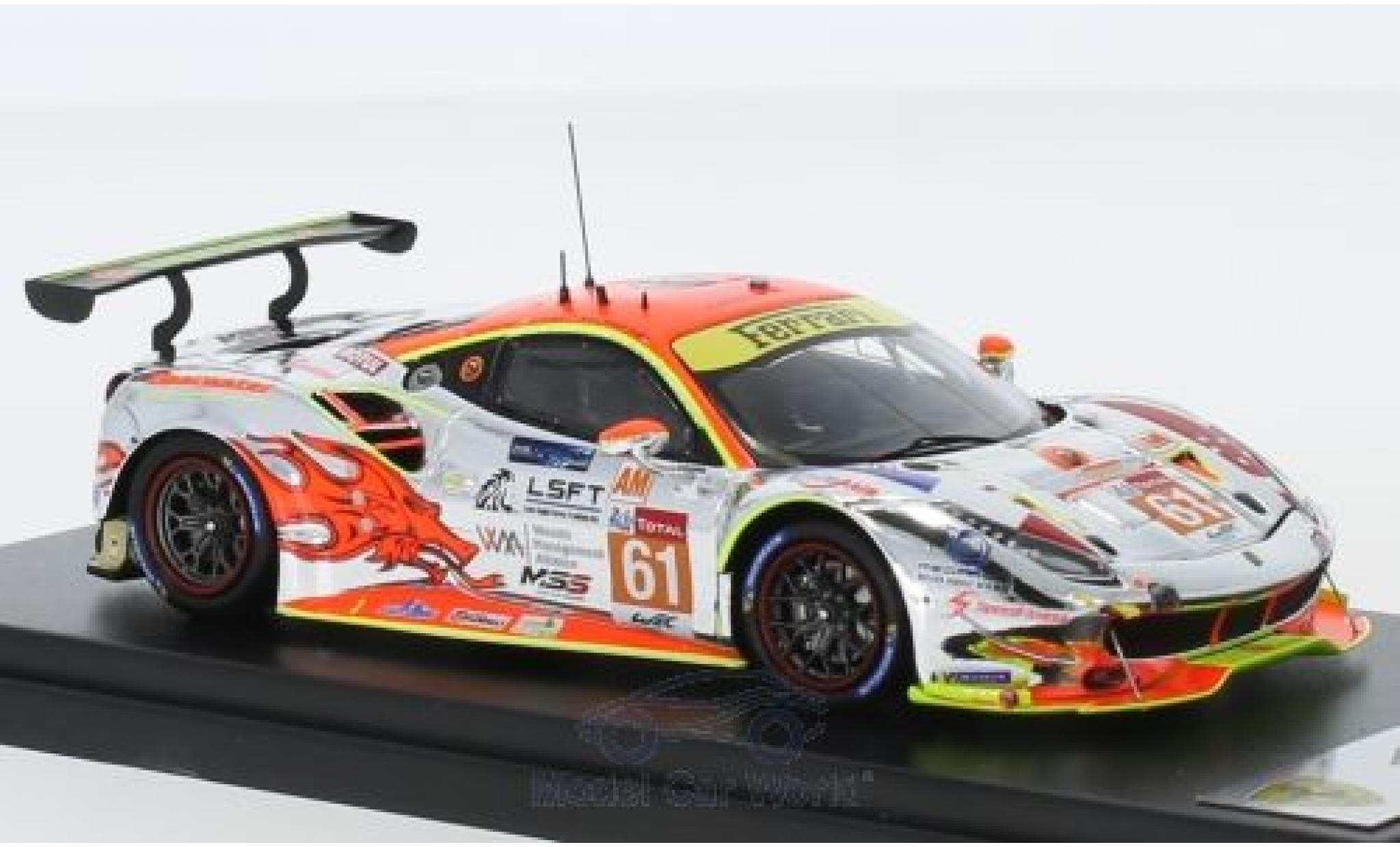Ferrari 488 1/43 Look Smart GTE No.61 Clearwater Racing 24h Le Mans 2018 W.S.Mok/M.Griffin/K.Sawa