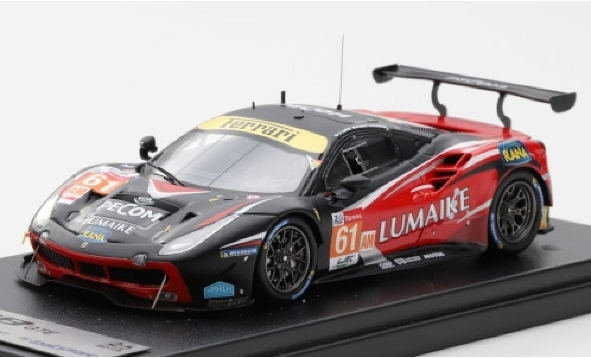 Ferrari 488 1/43 Look Smart GTE No.61 Clearwater Racing Lumaike 24h Le Mans 2019 M.Griffin/M.Cressoni/L.Perez-Companc