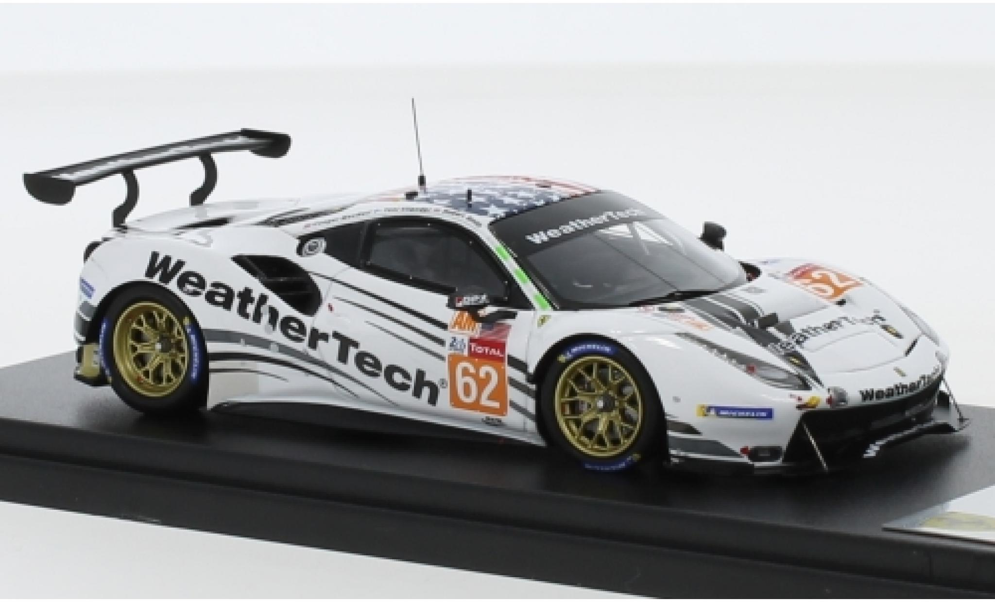 Ferrari 488 1/43 Look Smart GTE No.62 WeatherTech Racing WeatherTech 24h Le Mans 2019 C.MacNeil/R.Smith/T.Vilander