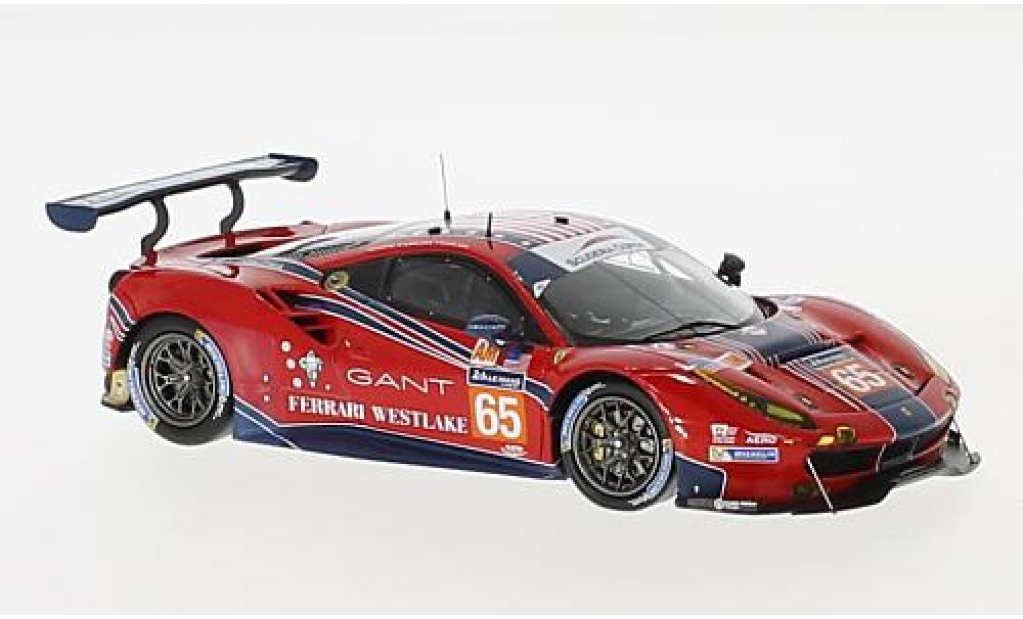Ferrari 488 1/43 Look Smart GTE No.65 Scuderia Corsa 24h Le Mans 2017 C.Nielsen/A.Balzan/B.Curtis