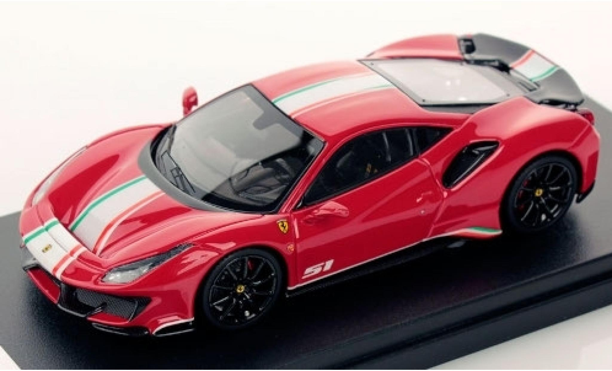 Ferrari 488 1/43 Look Smart Pista Piloti rouge/Dekor