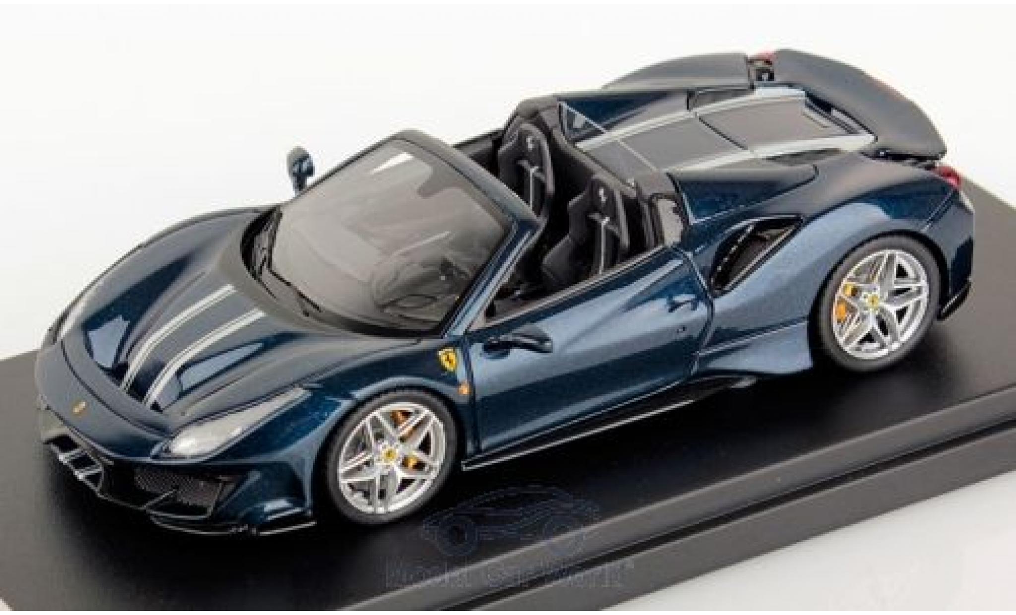 Ferrari 488 1/43 Look Smart Pista Spider metallise blau/Dekor 2018