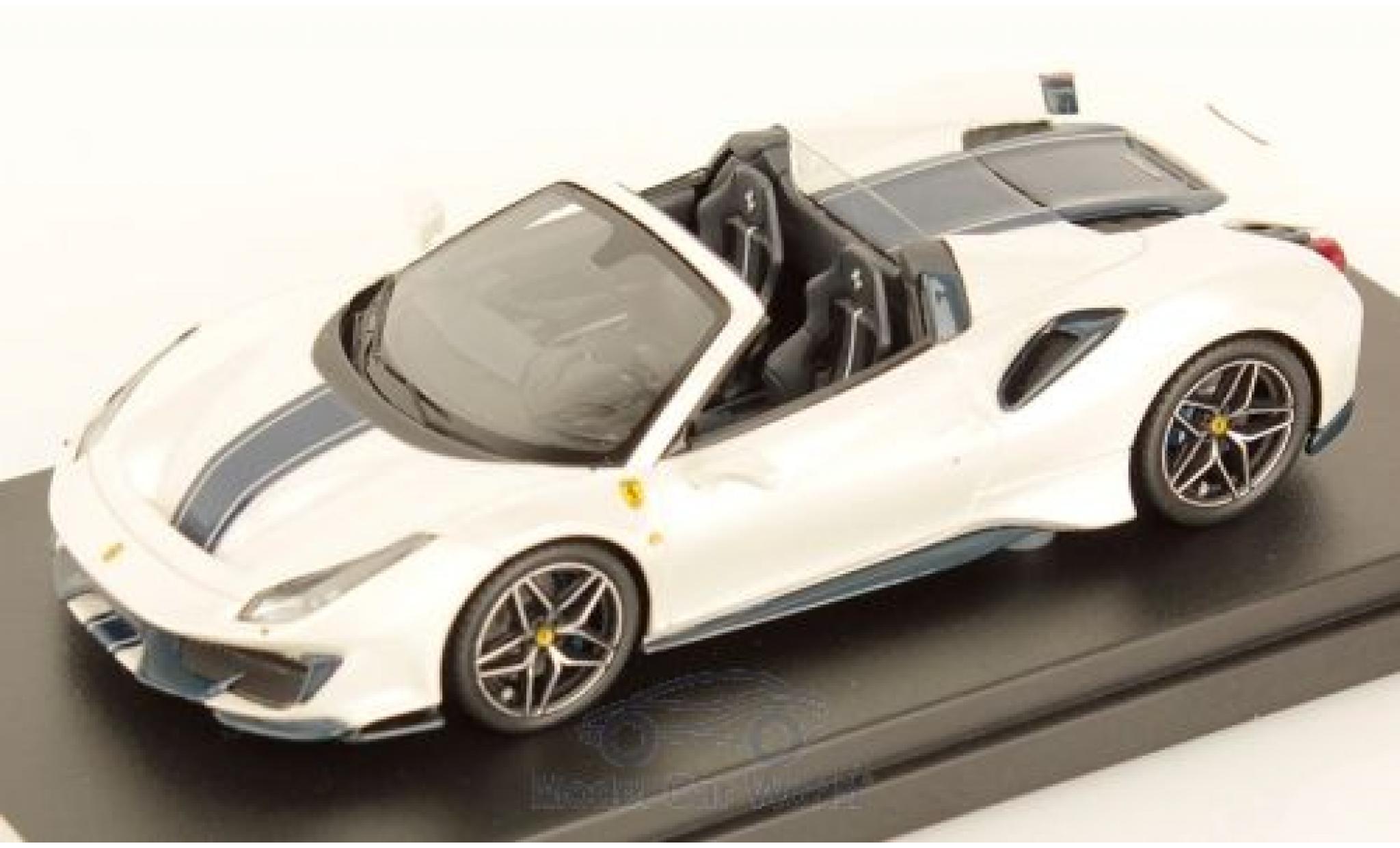 Ferrari 488 1/43 Look Smart Pista Spider métallisé blanche/noire 2018