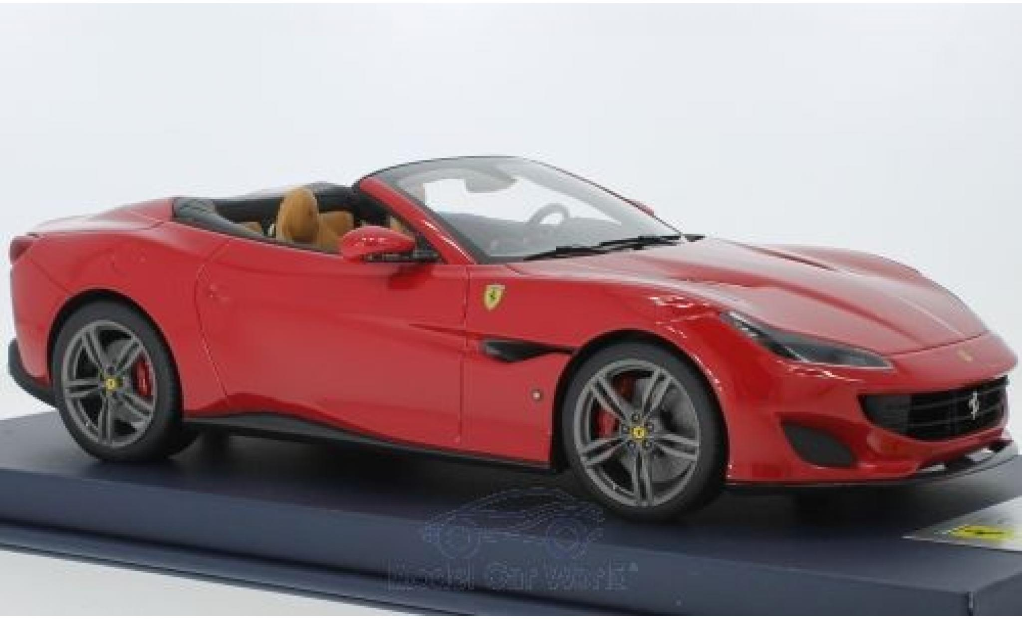 Ferrari Portofino 1/18 Look Smart rouge 2018 Interieur beige