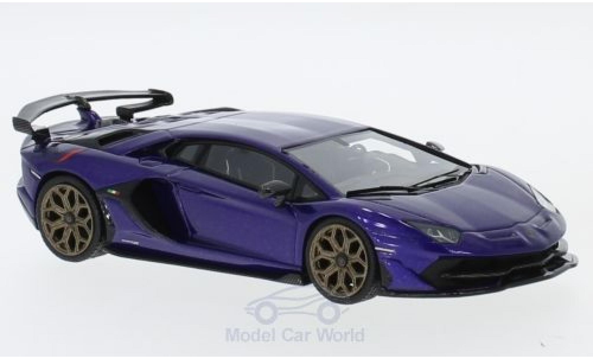 Lamborghini Aventador 1/43 Look Smart SVJ metallic purple