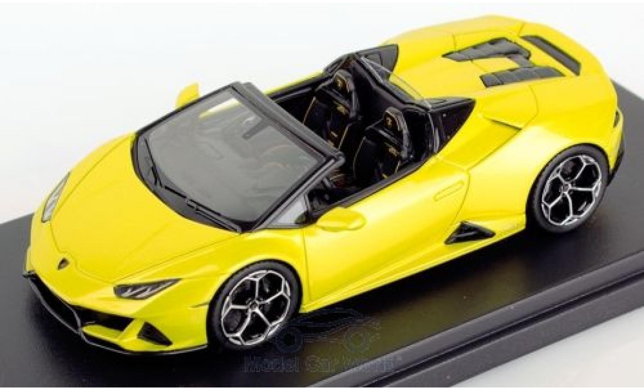 Lamborghini Huracan 1/43 Look Smart Evo Spyder metallise jaune 2019
