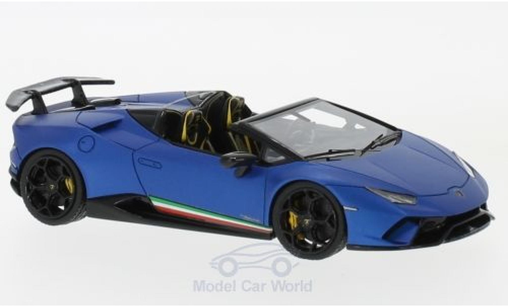 Lamborghini Huracan 1/43 Look Smart Performante Spyder matt-blue