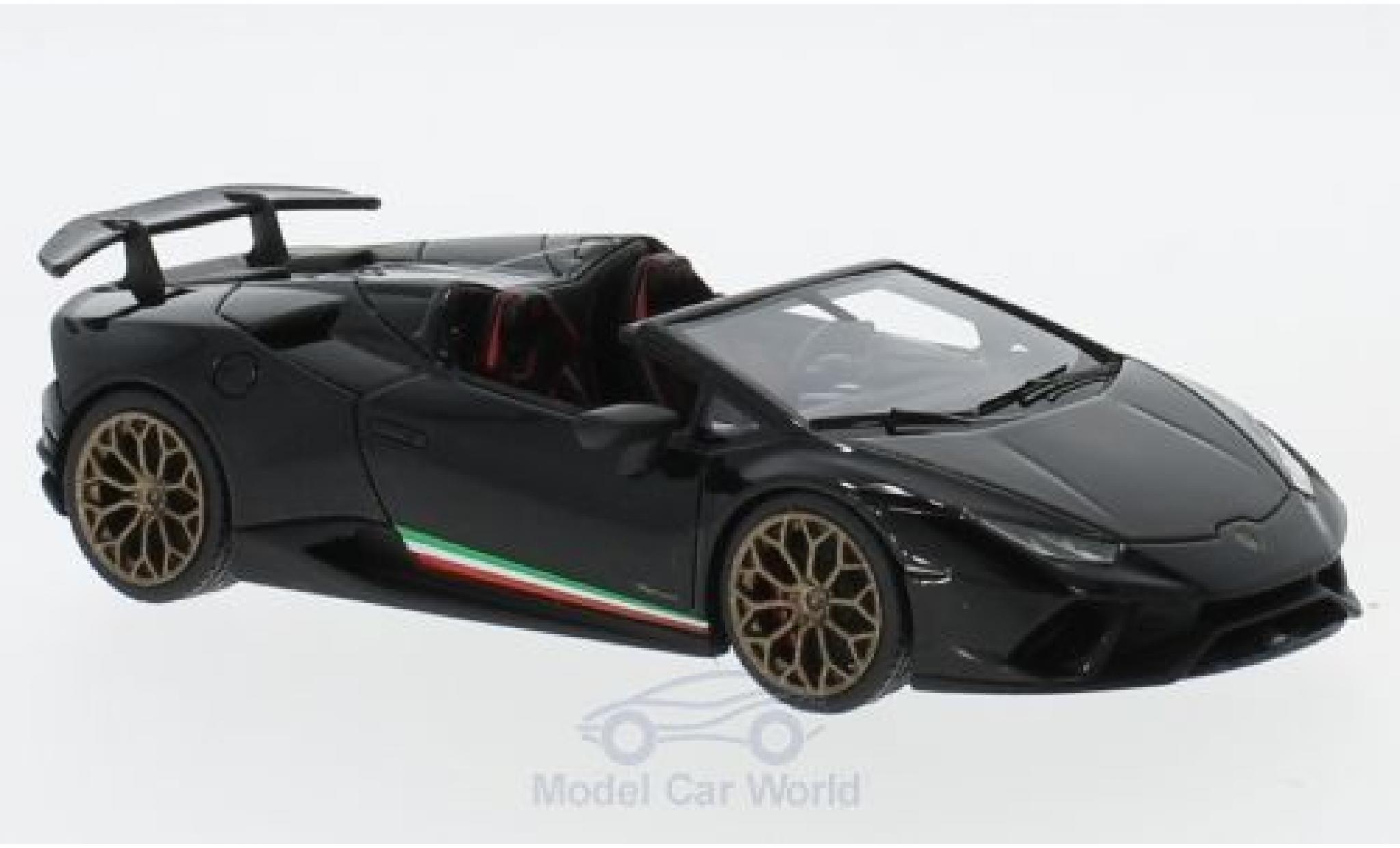 Lamborghini Huracan 1/43 Look Smart Performante Spyder metallise black