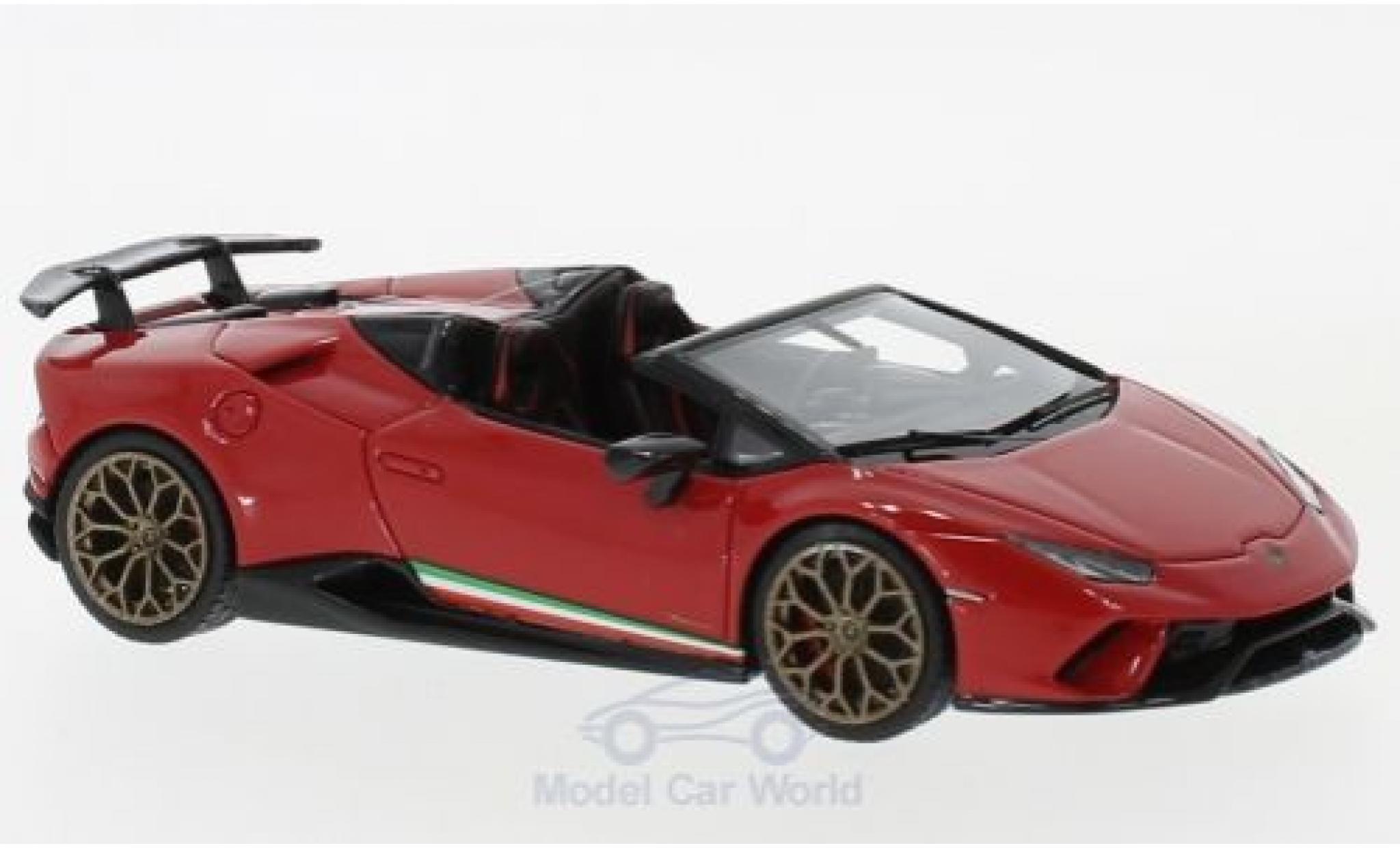 Lamborghini Huracan 1/43 Look Smart Performante Spyder red