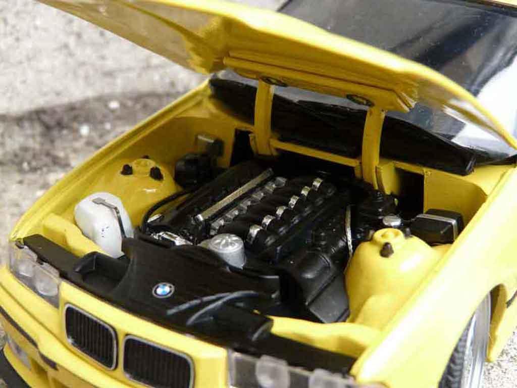 Bmw M3 E36 1/18 Ut Models jaune jantes alu tuning