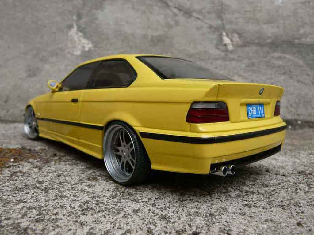 bmw m3 e36 jaune felgen alu tuning ut models modellauto 1. Black Bedroom Furniture Sets. Home Design Ideas