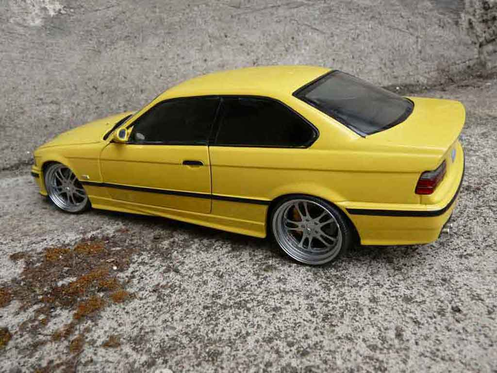 bmw m3 e36 jaune felgen alu tuning ut models modellauto 1 18 kaufen verkauf modellauto. Black Bedroom Furniture Sets. Home Design Ideas