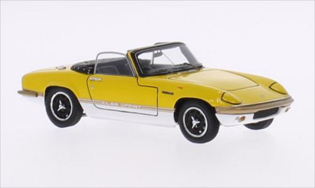 Lotus Elan 1/43 Spark Sprint DHC jaune/blanche RHD miniature