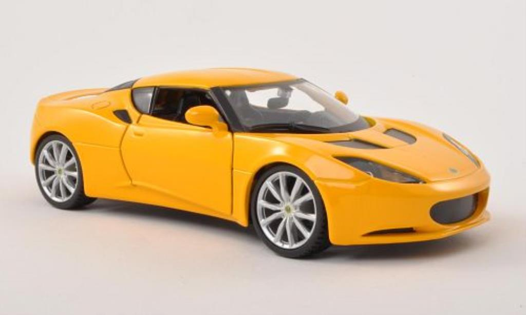 Lotus Evora S 1/24 Burago IP yellow diecast model cars