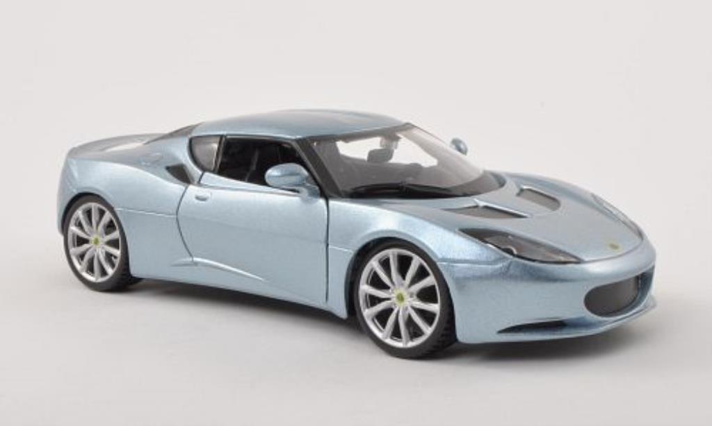 Lotus Evora S 1/24 Burago IP grise-bleu miniature