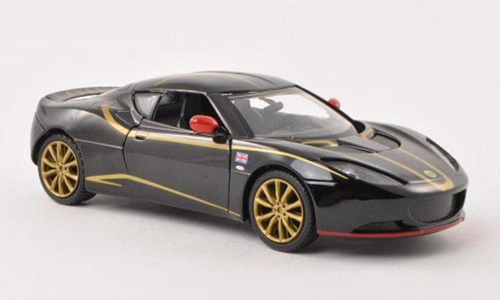 Lotus Evora S 1/24 Motormax noire mit Dekor miniature