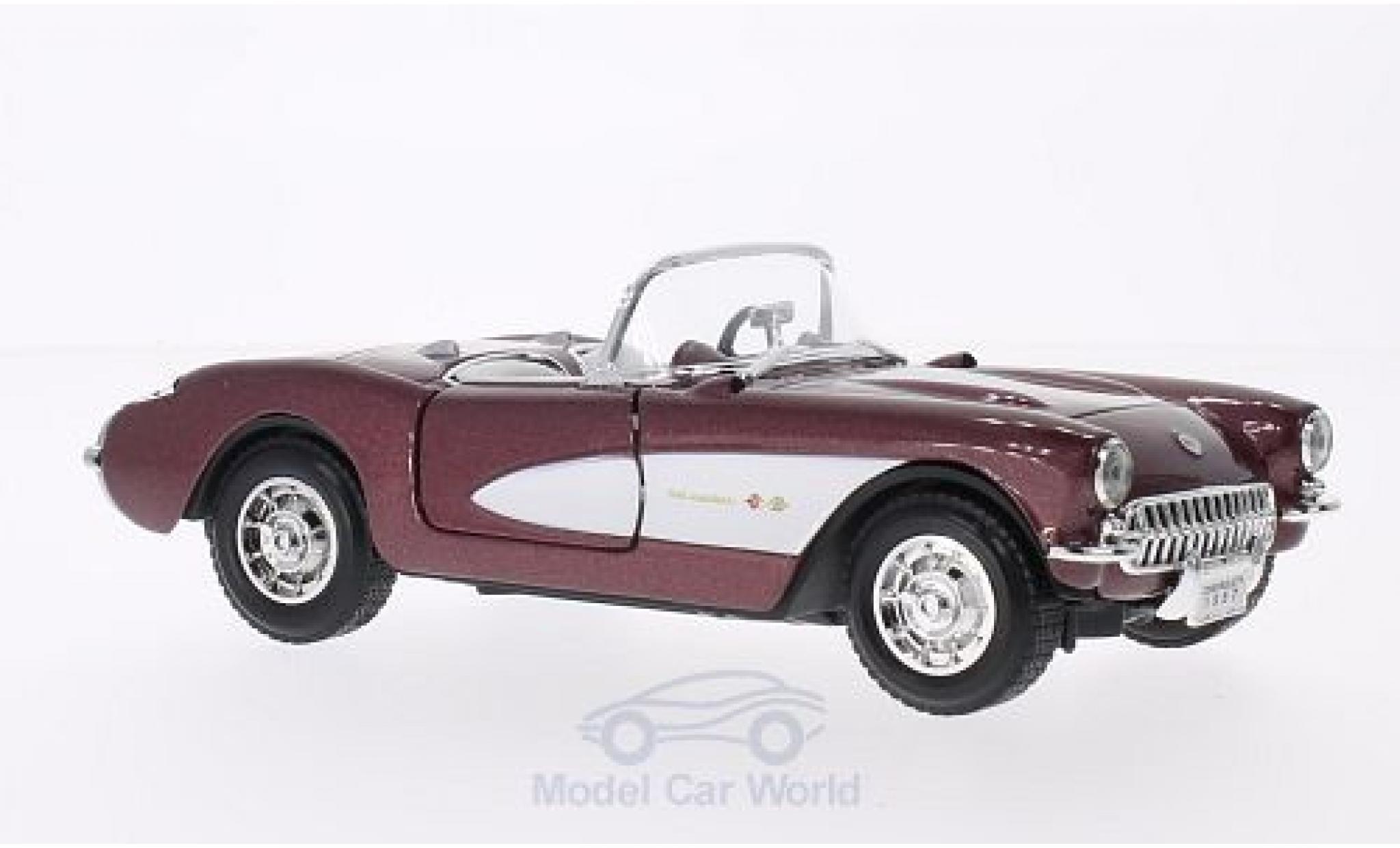 Chevrolet Corvette C1 1/24 Lucky Die Cast metallise red/white 1957