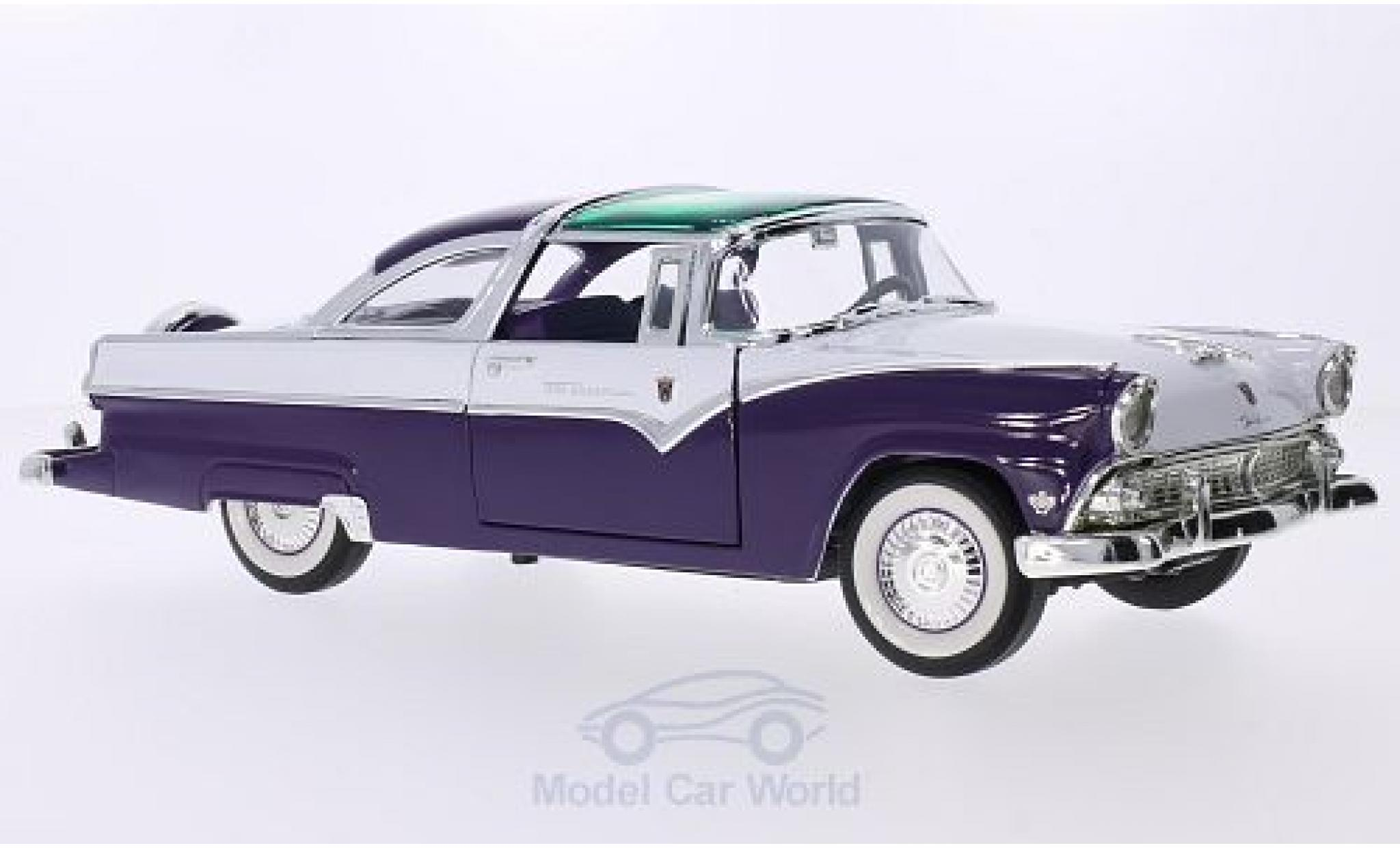 Ford Crown 1/18 Lucky Die Cast Victoria violette/blanche 1955