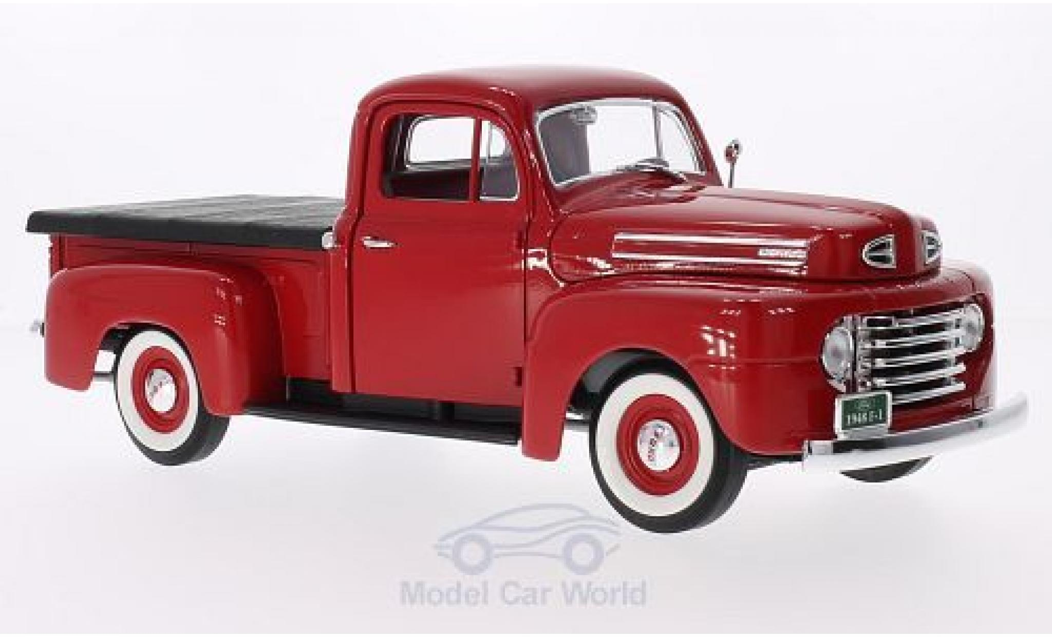 Ford F-1 1/18 Lucky Die Cast Pick Up With Flatbed Cover rouge 1948