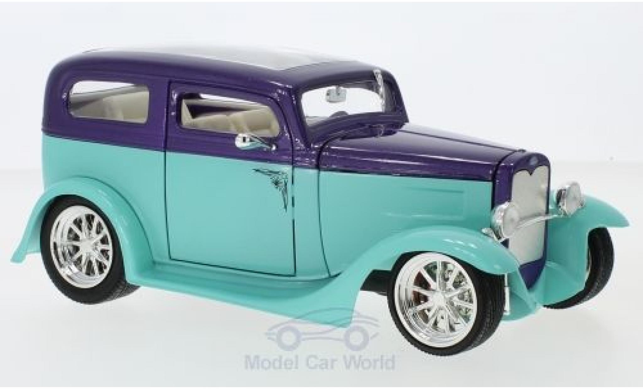Ford Model A 1/18 Lucky Die Cast Sedan turquoise/metallise lila 1931 ohne Vitrine