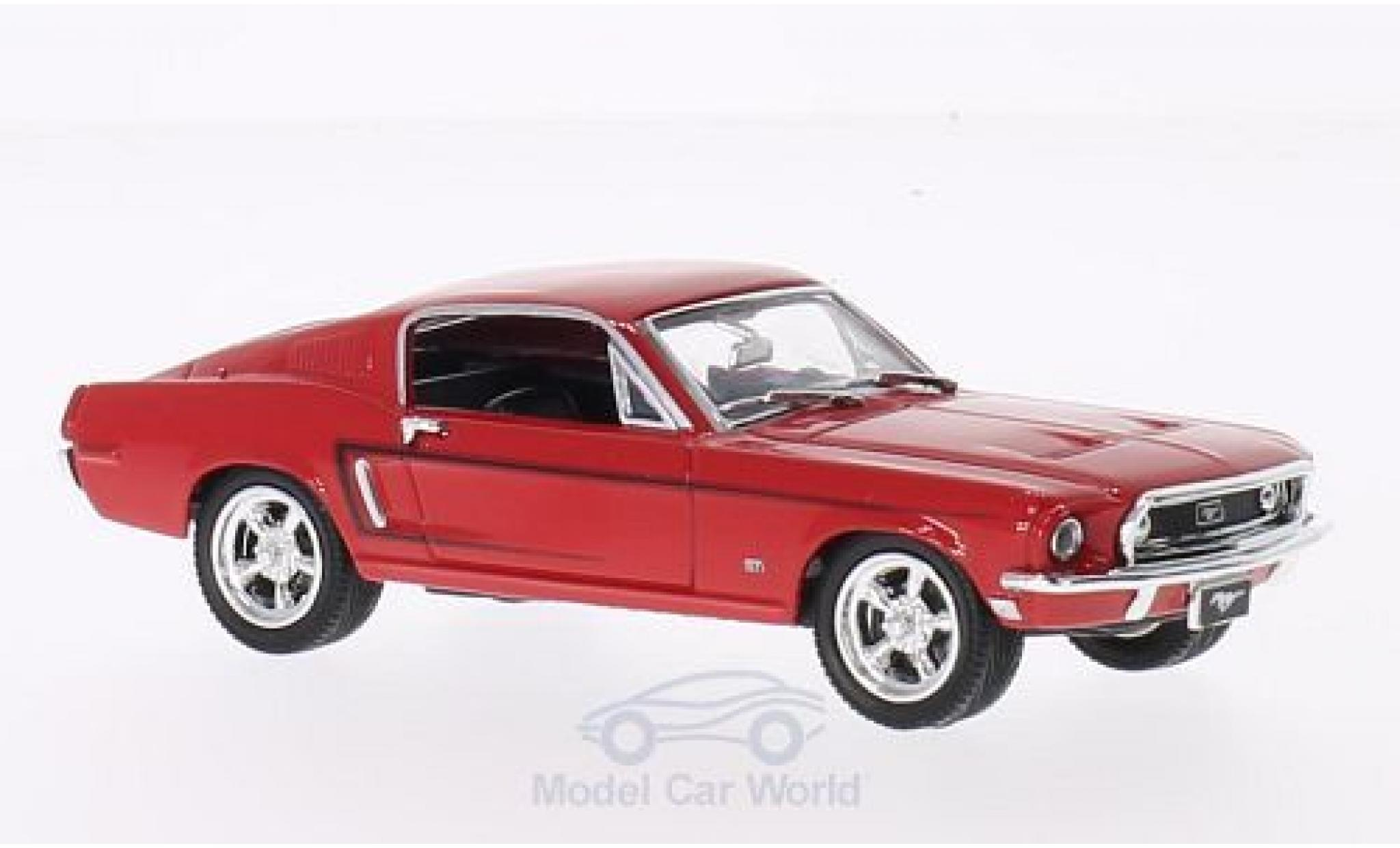 Ford Mustang GT 1/43 Lucky Die Cast 2+2 Fastback rouge 1968