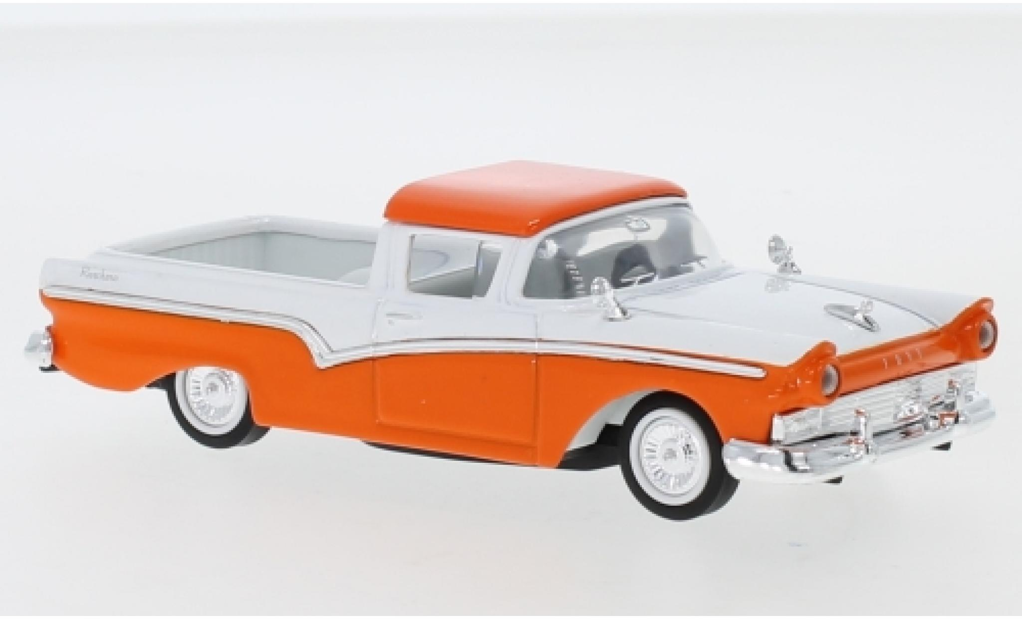 Ford Ranchero 1/18 Lucky Die Cast orange/blanche 1957