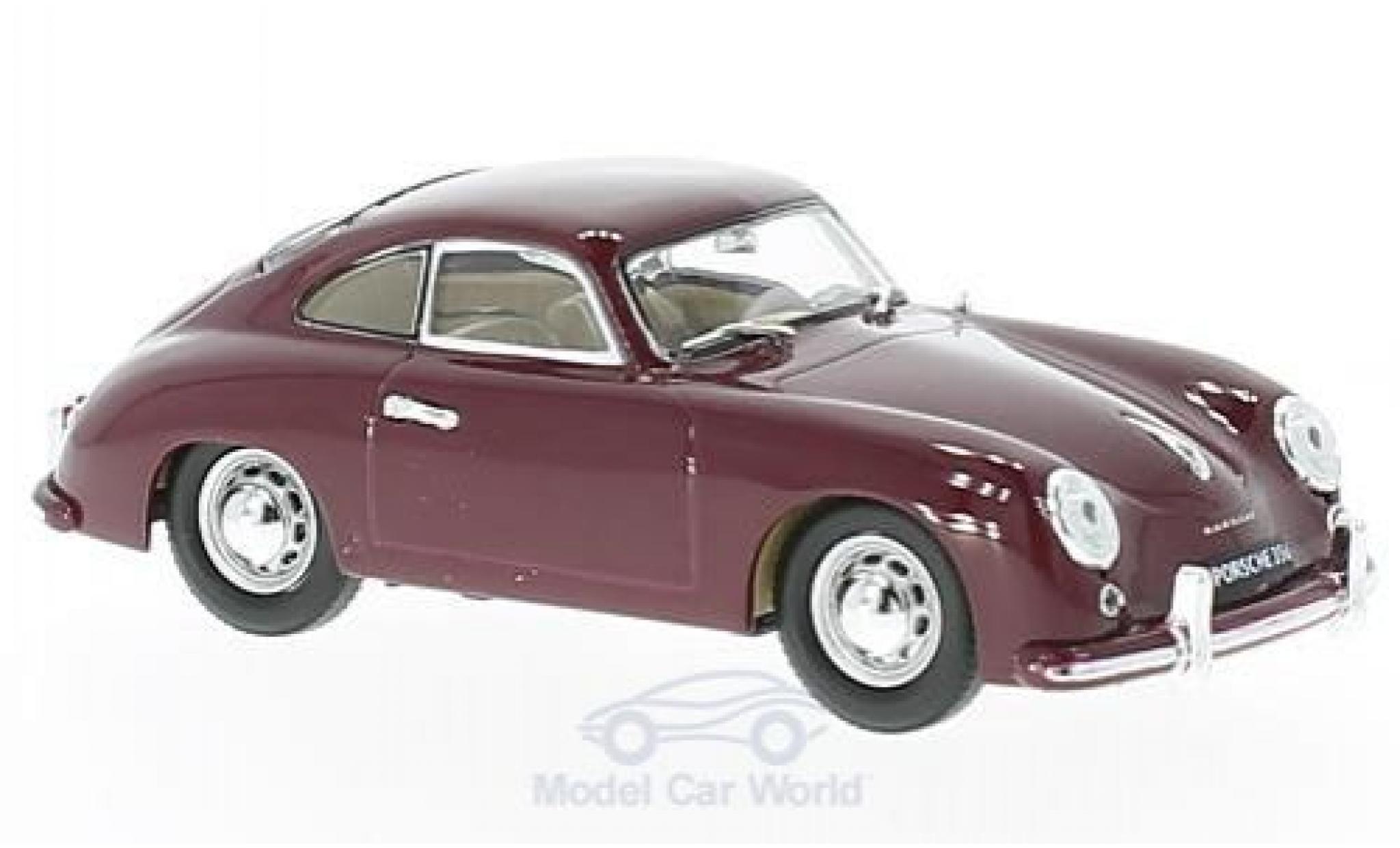 Porsche 356 1/43 Lucky Die Cast rouge 1952