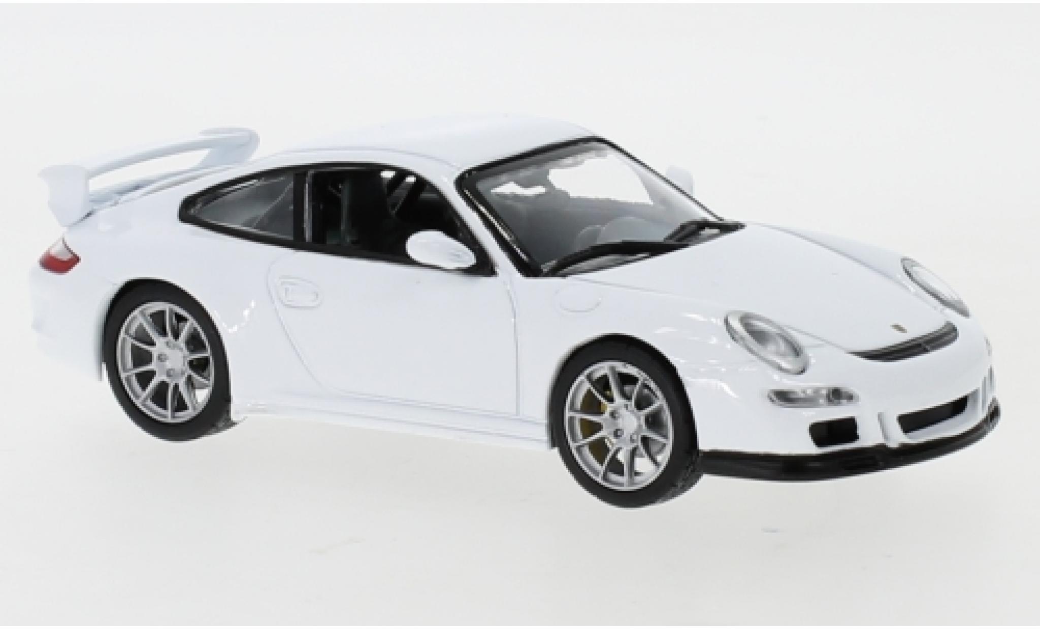 Porsche 997 GT3 1/43 Lucky Die Cast 911  blanche