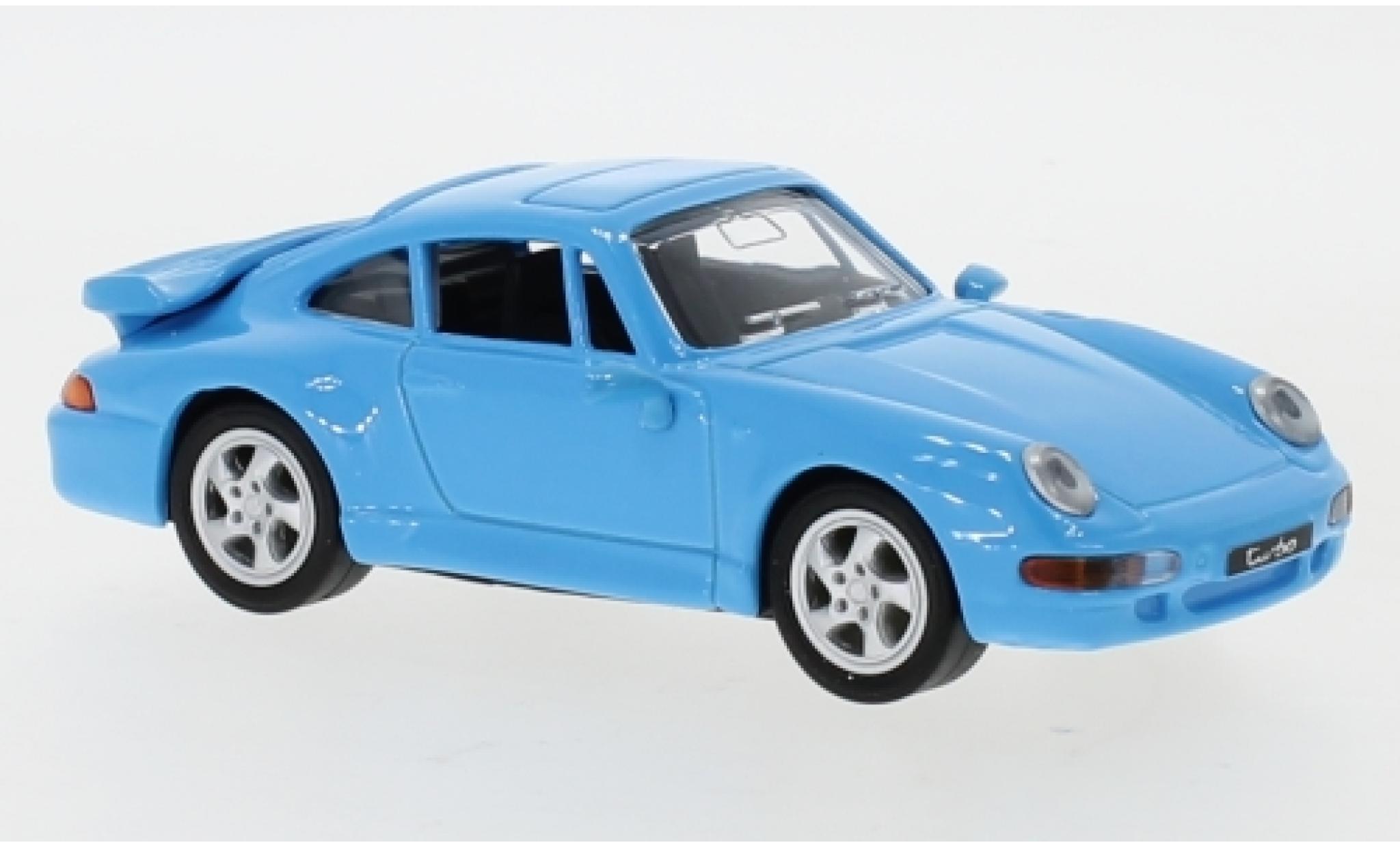 Porsche 993 Turbo 1/43 Lucky Die Cast 911  blue 1996