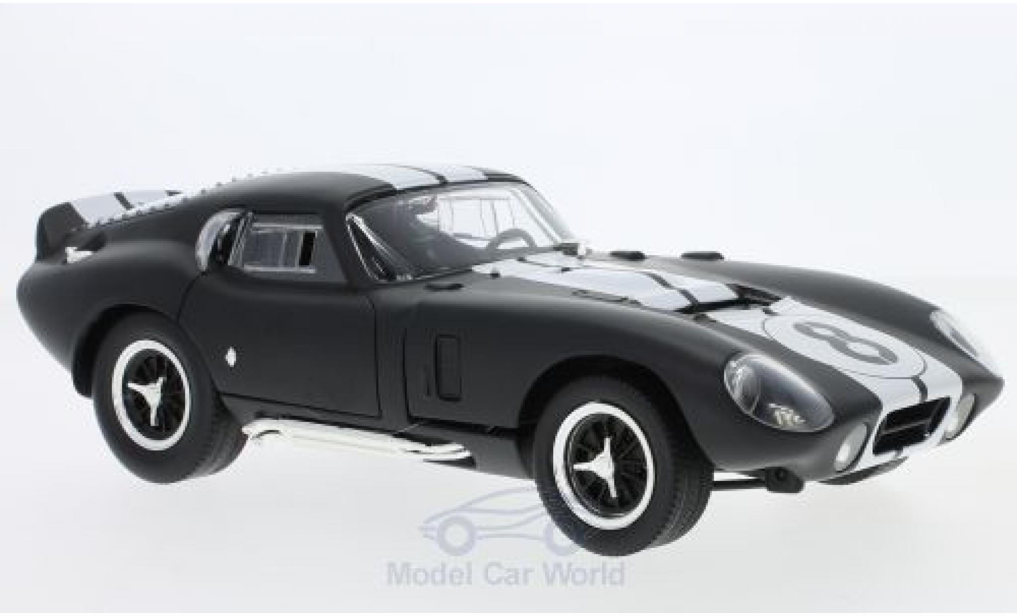 Shelby Cobra 1/18 Lucky Die Cast Daytona Coupe matt-noire/blanche 1965