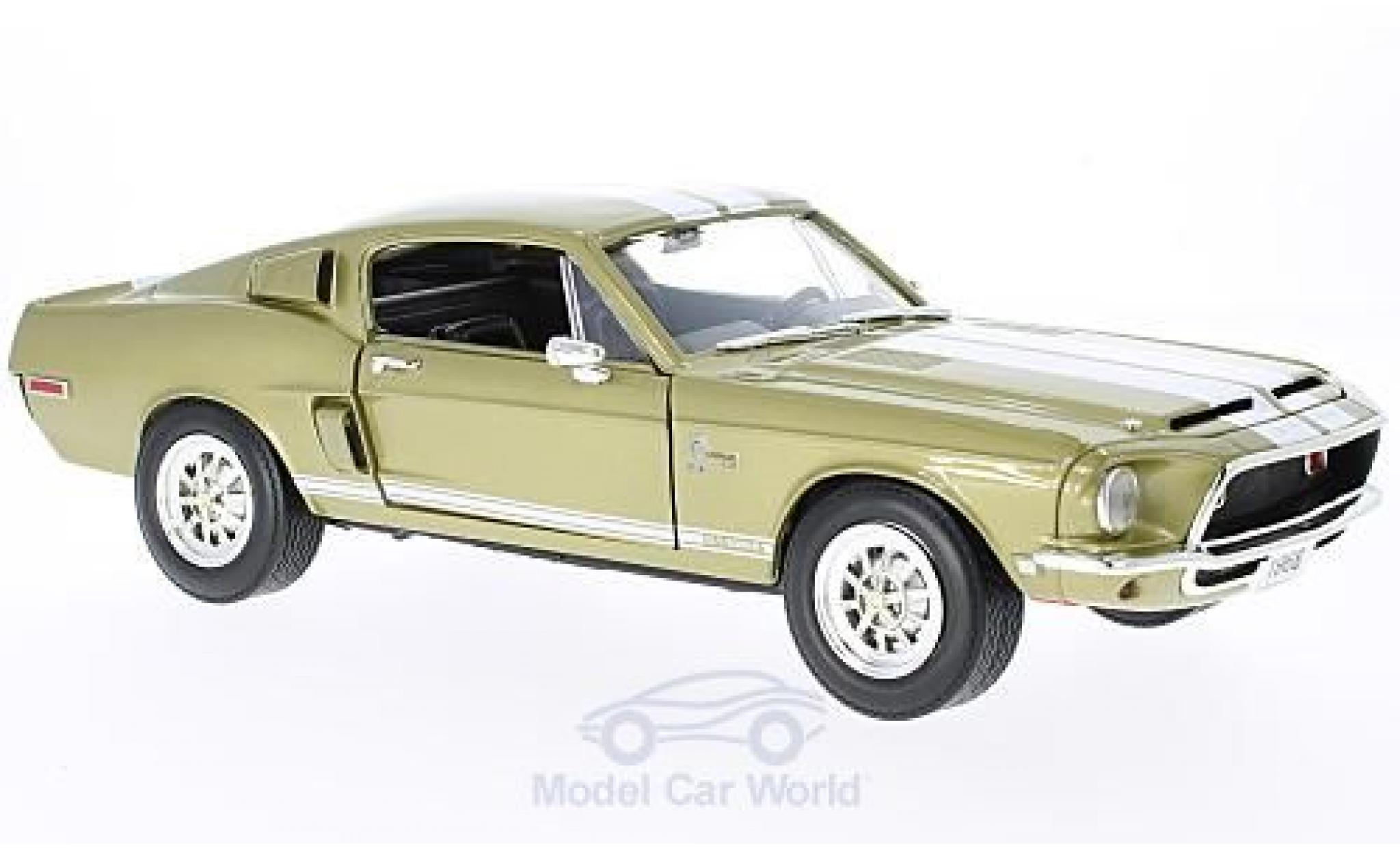 Shelby GT 1/18 Lucky Die Cast -500KR gold/blanche