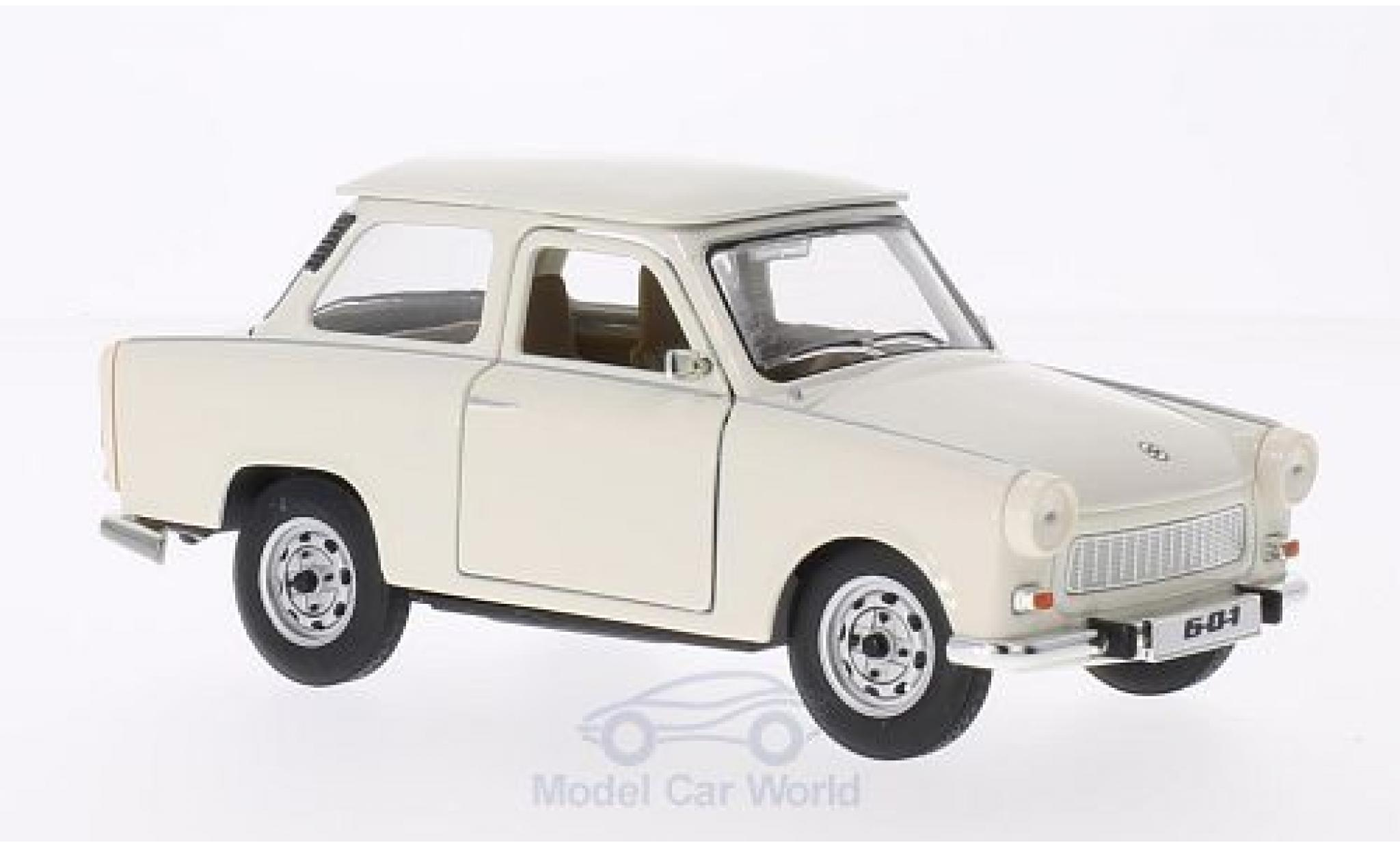 Trabant 601 1/18 Lucky Die Cast blanche