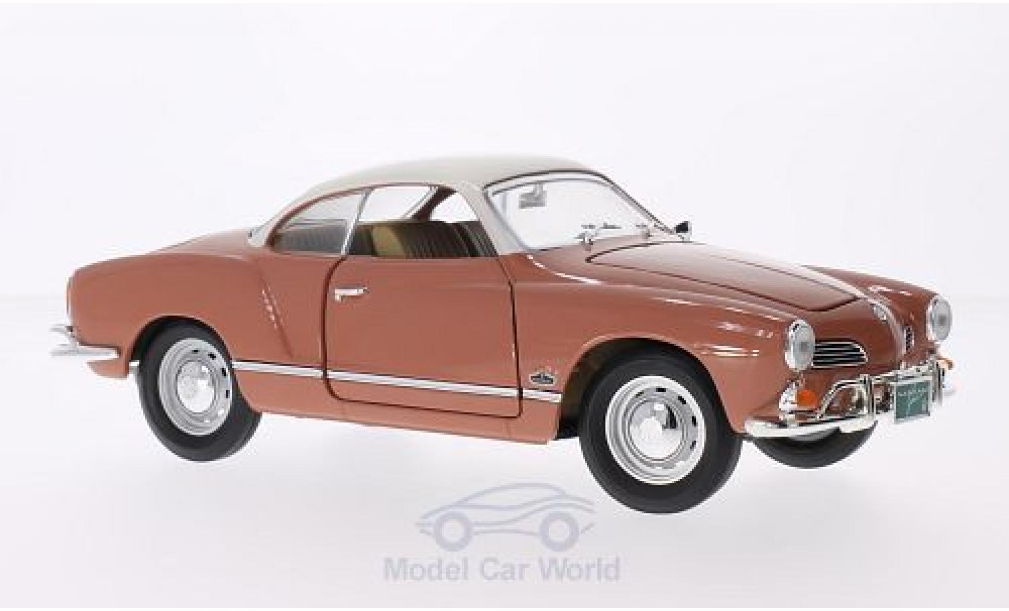 Volkswagen Karmann 1/18 Lucky Die Cast Ghia marron/blanche 1966
