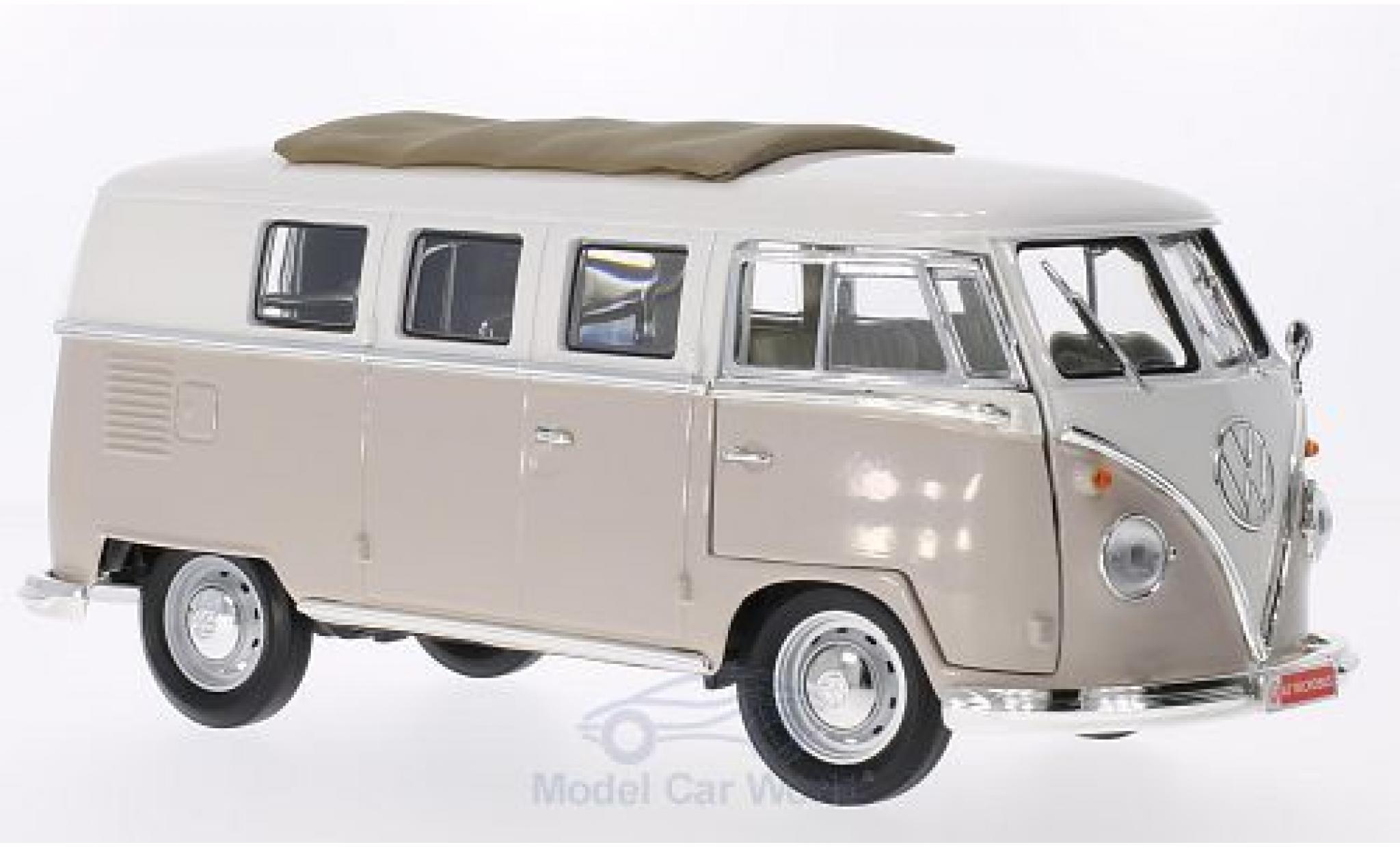 Volkswagen T1 B 1/18 Lucky Die Cast Microbus mit Faltdach beige/white 1962