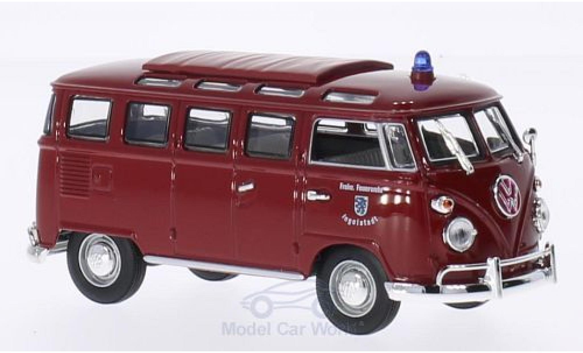 Volkswagen T1 B 1/43 Lucky Die Cast Samba Feuerwehr Ingolstadt 1962