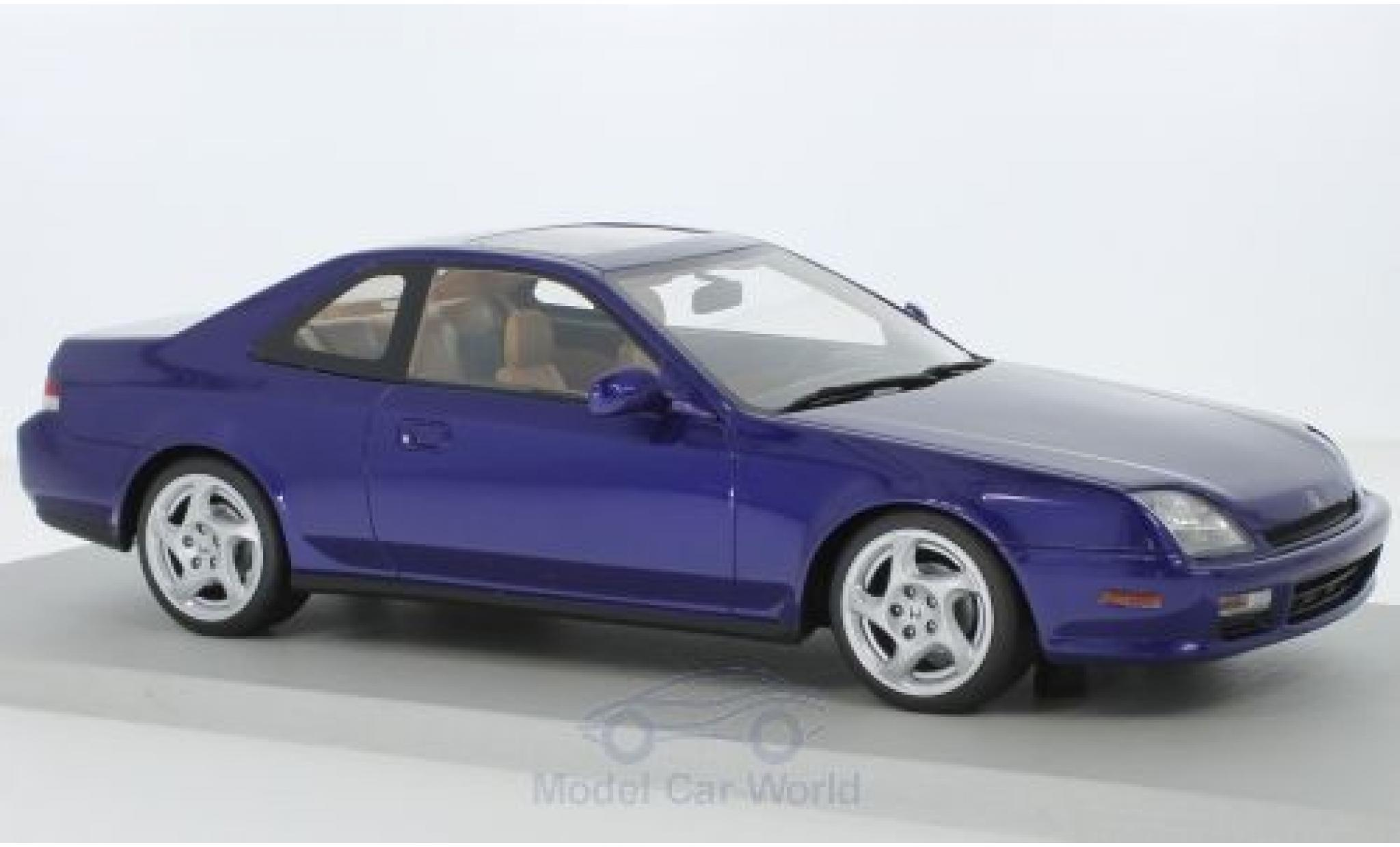 Diecast Honda Prelude 1/18 Lucky Step Models Metallic-blue