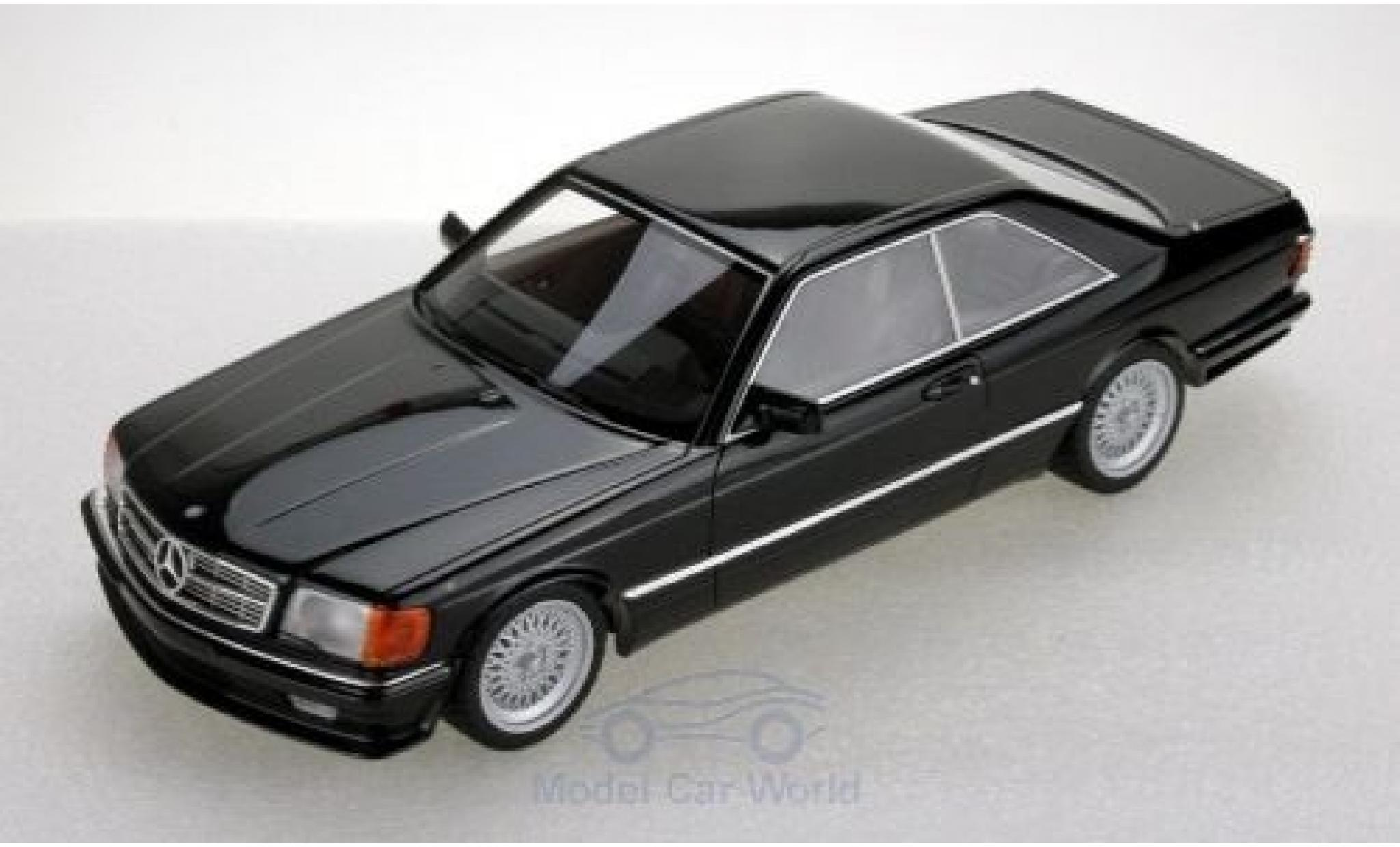 Mercedes 560 1/18 Lucky Step Models SEC (C126) Lorinser noire 1987