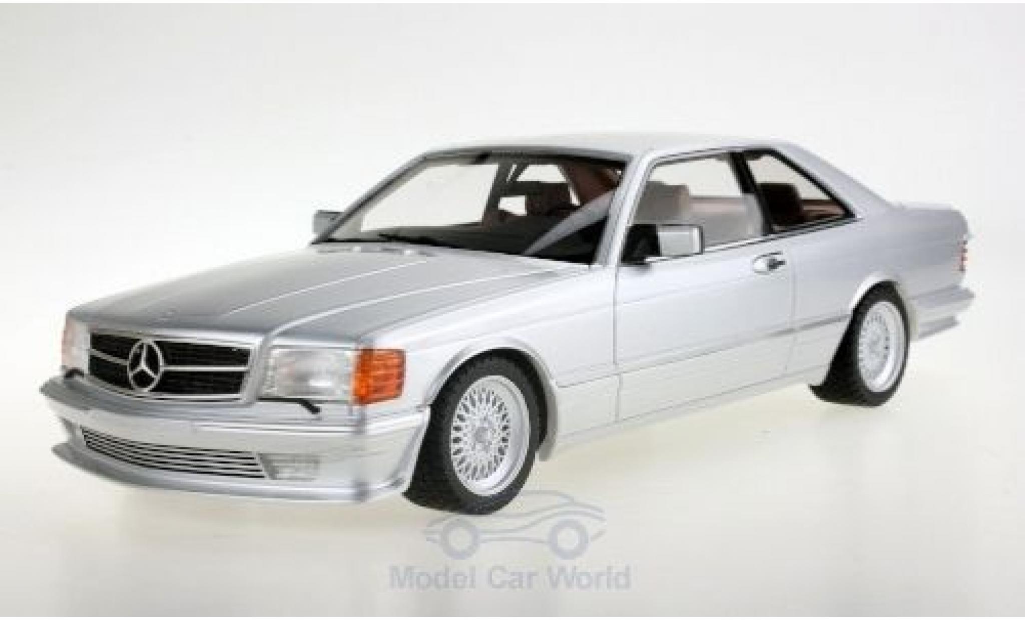 Mercedes 560 1/18 Lucky Step Models SEC (C126) Lorinser grise 1987