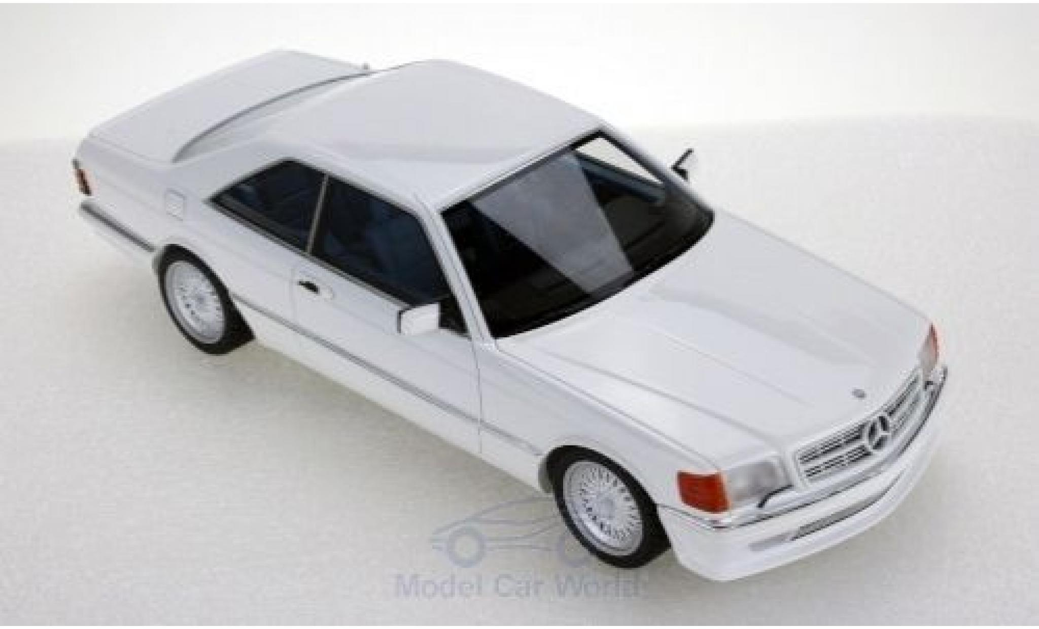 Mercedes 560 1/18 Lucky Step Models SEC (C126) Lorinser white 1987