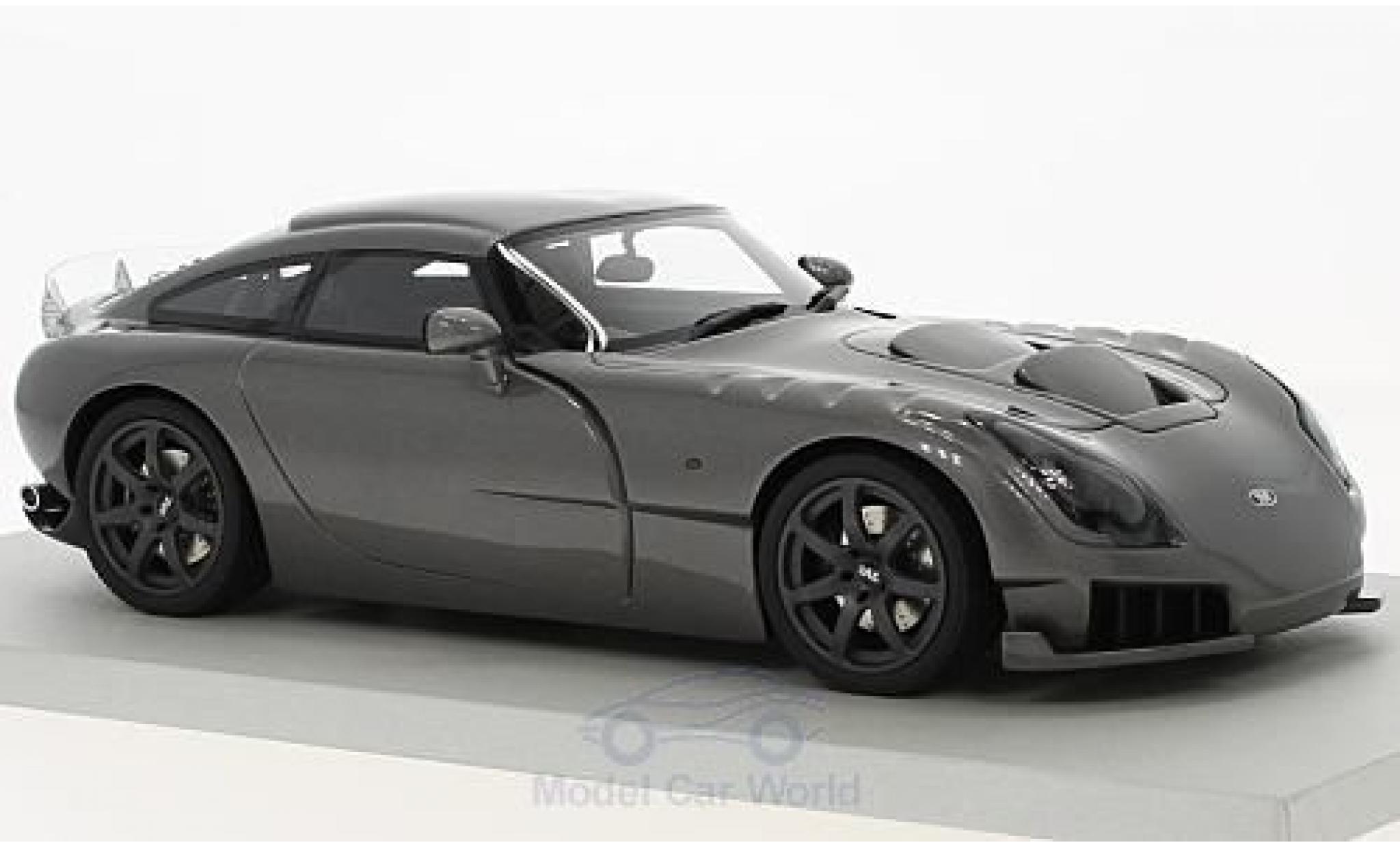 TVR Sagaris 1/18 Lucky Step Models metallise grey RHD 2005