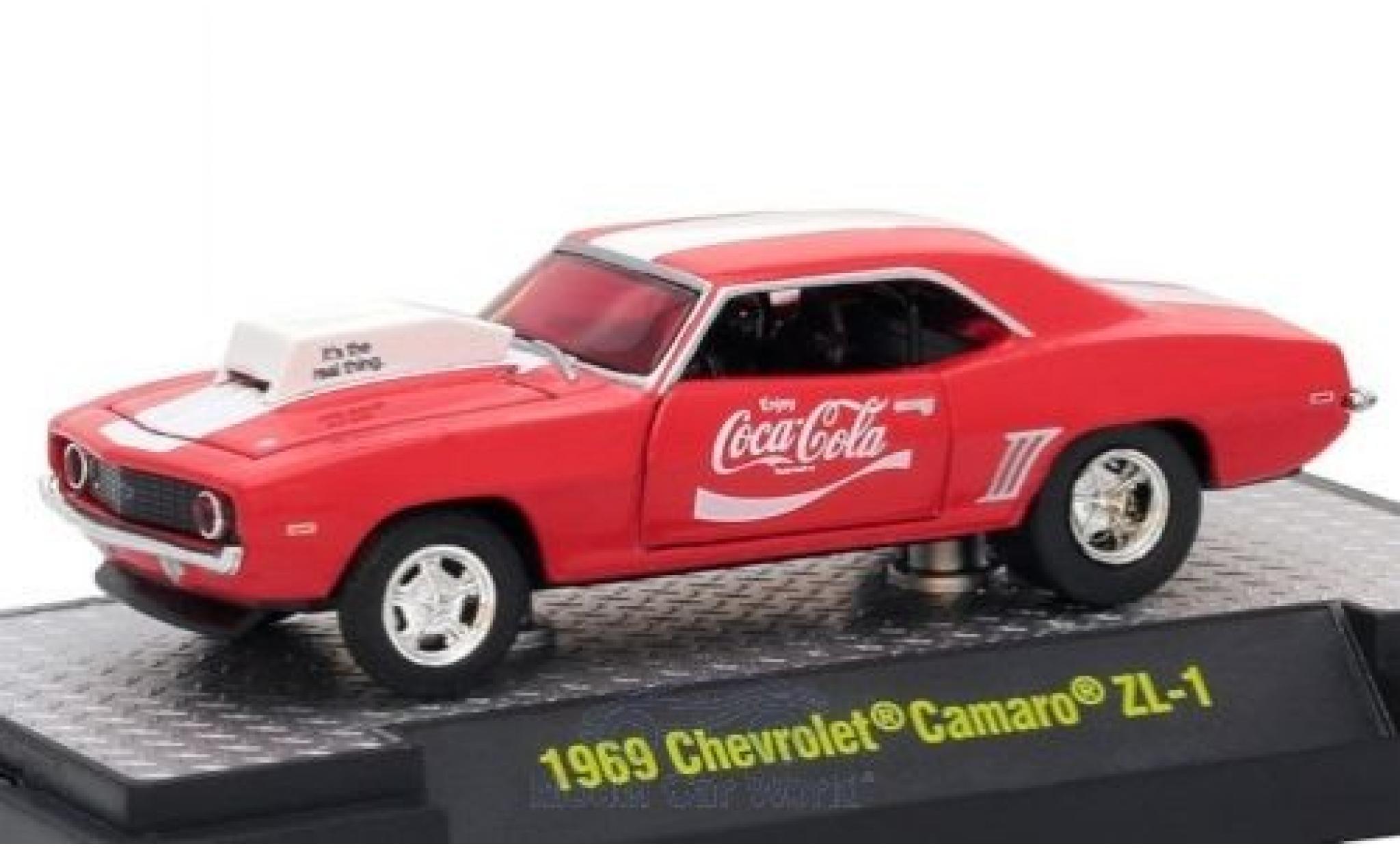 Chevrolet Camaro ZL1 1/64 M2 Machines rouge/blanche Coca Cola 1969