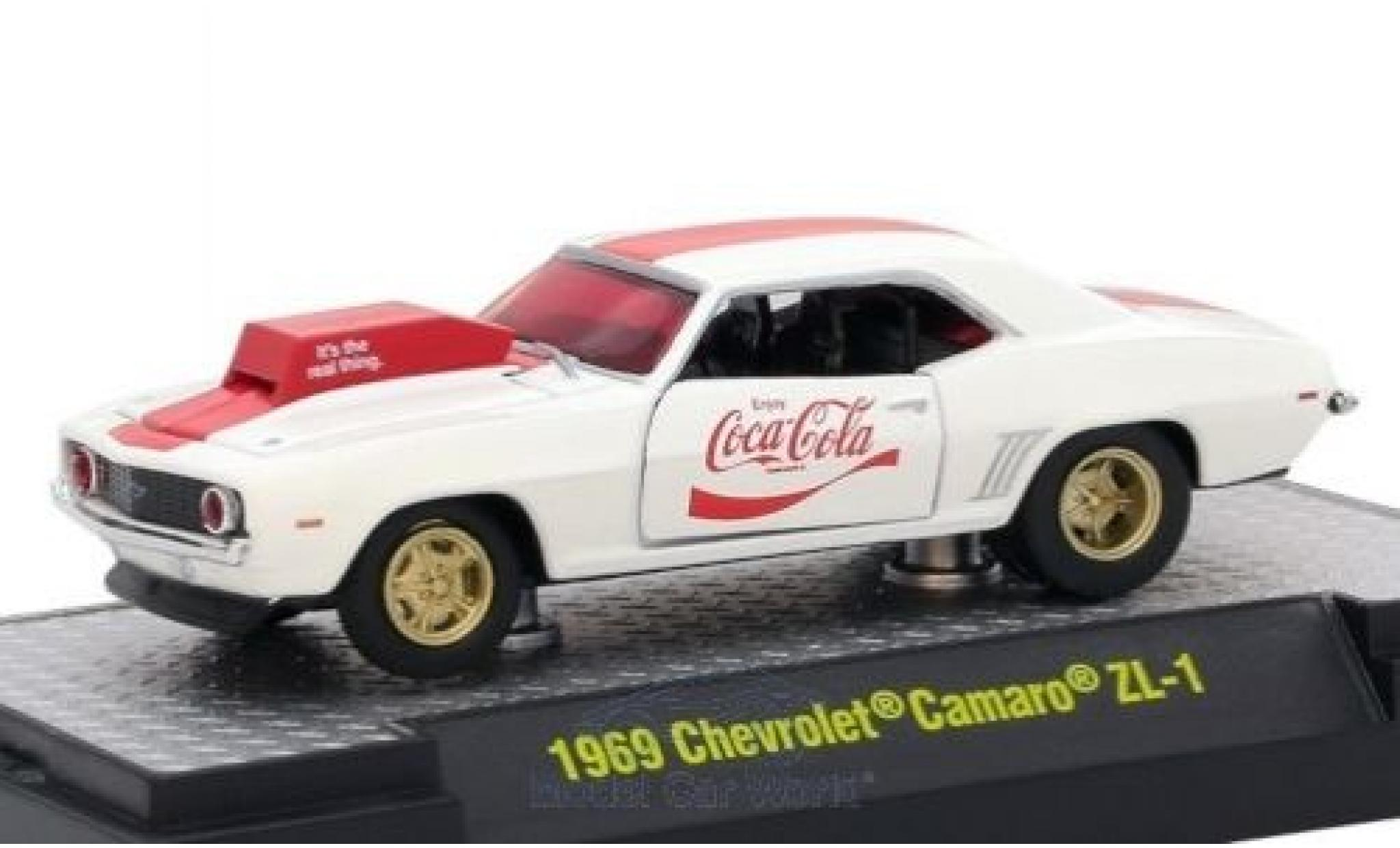 Chevrolet Camaro ZL1 1/64 M2 Machines bianco/rosso Coca Cola 1969