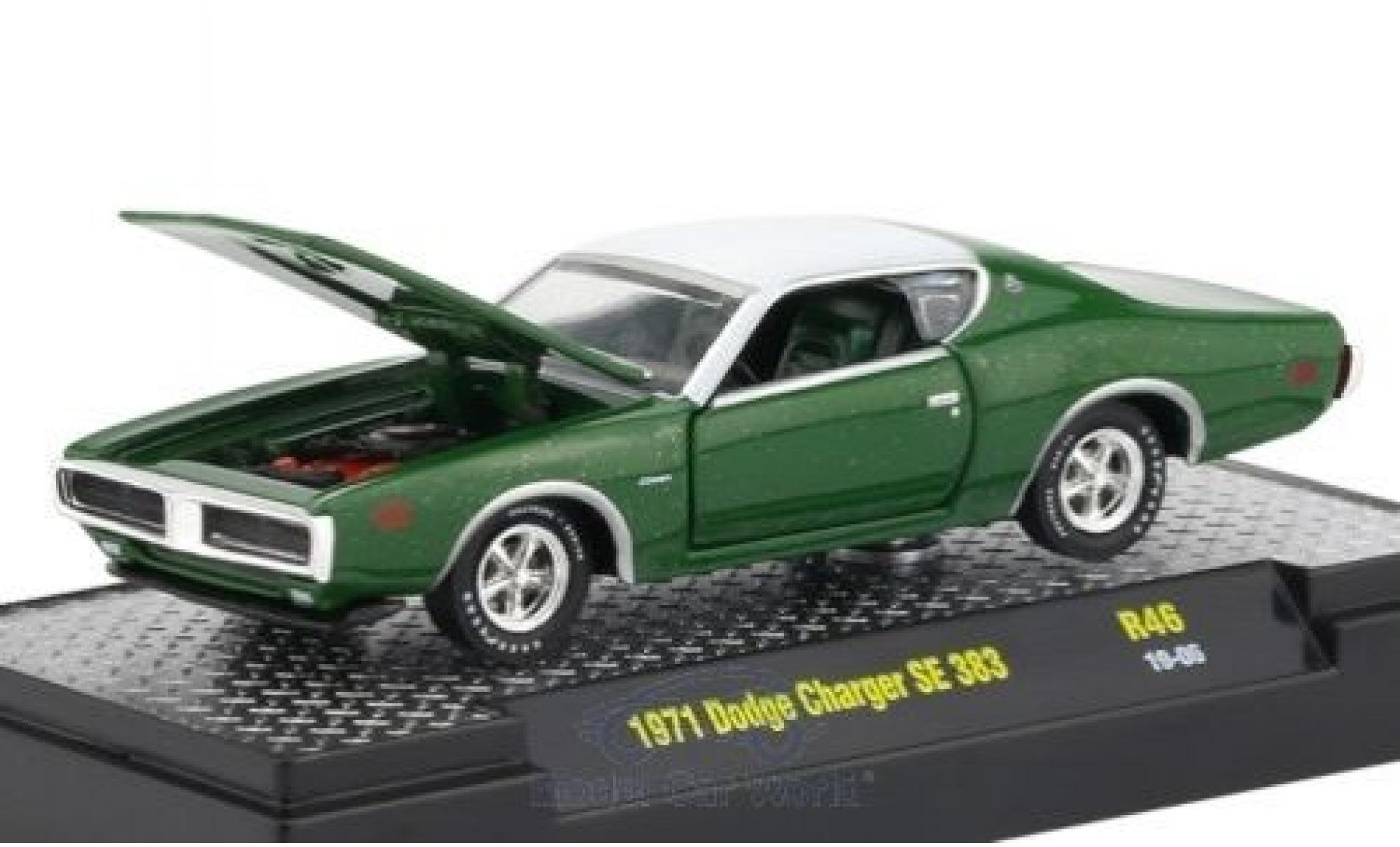 Dodge Charger 1/64 M2 Machines SE 383 green/white 1971